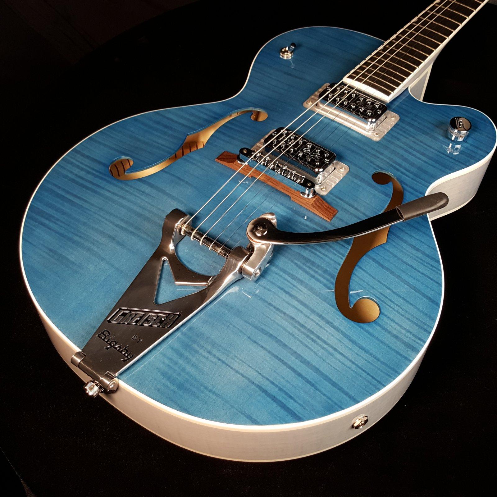 Gretsch G6120SH Brian Setzer Hot Rod Ebony Harbor Blue