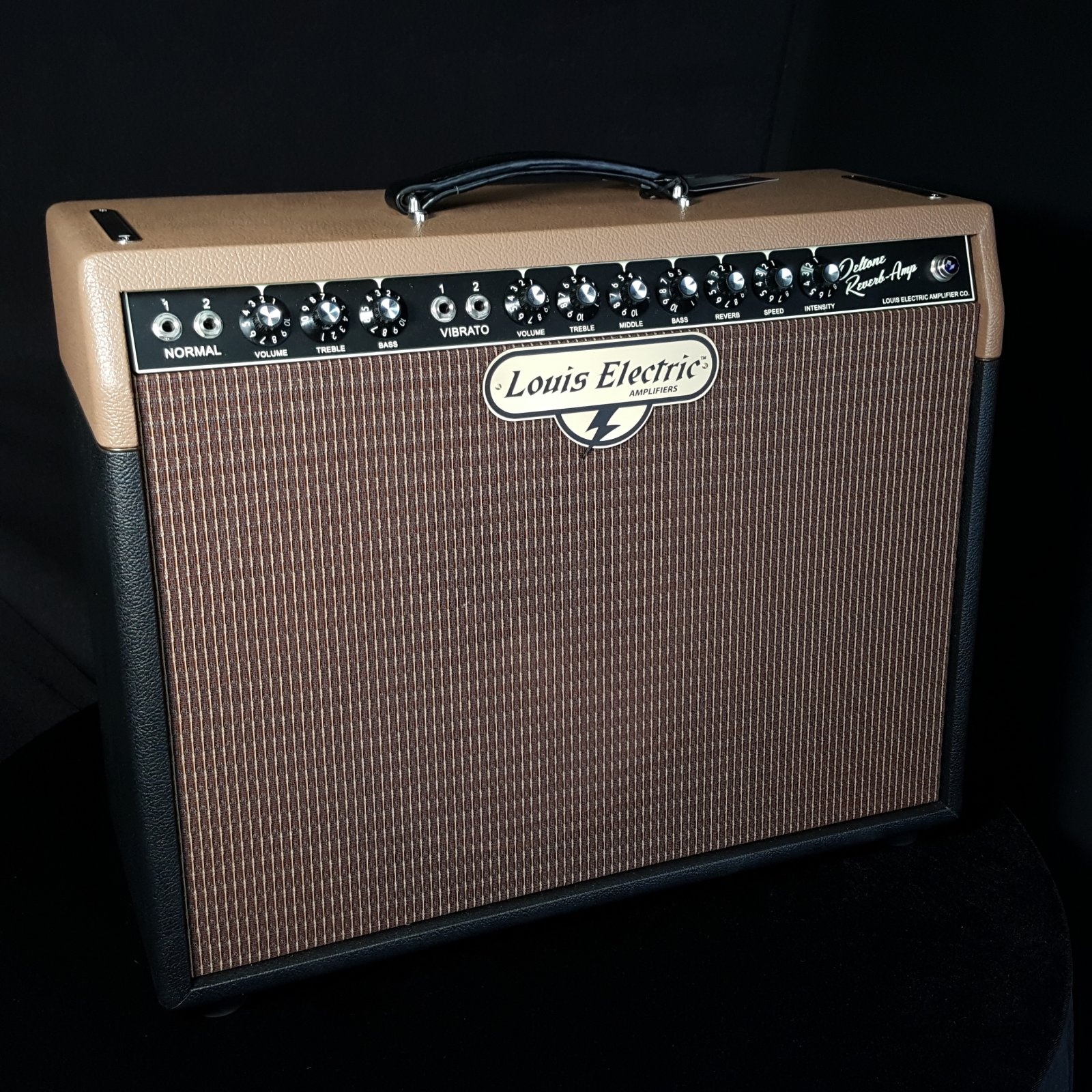 Used Louis Electric Deltone Reverb 6V6 Guitar Amplifier w/Cover and Footswitch