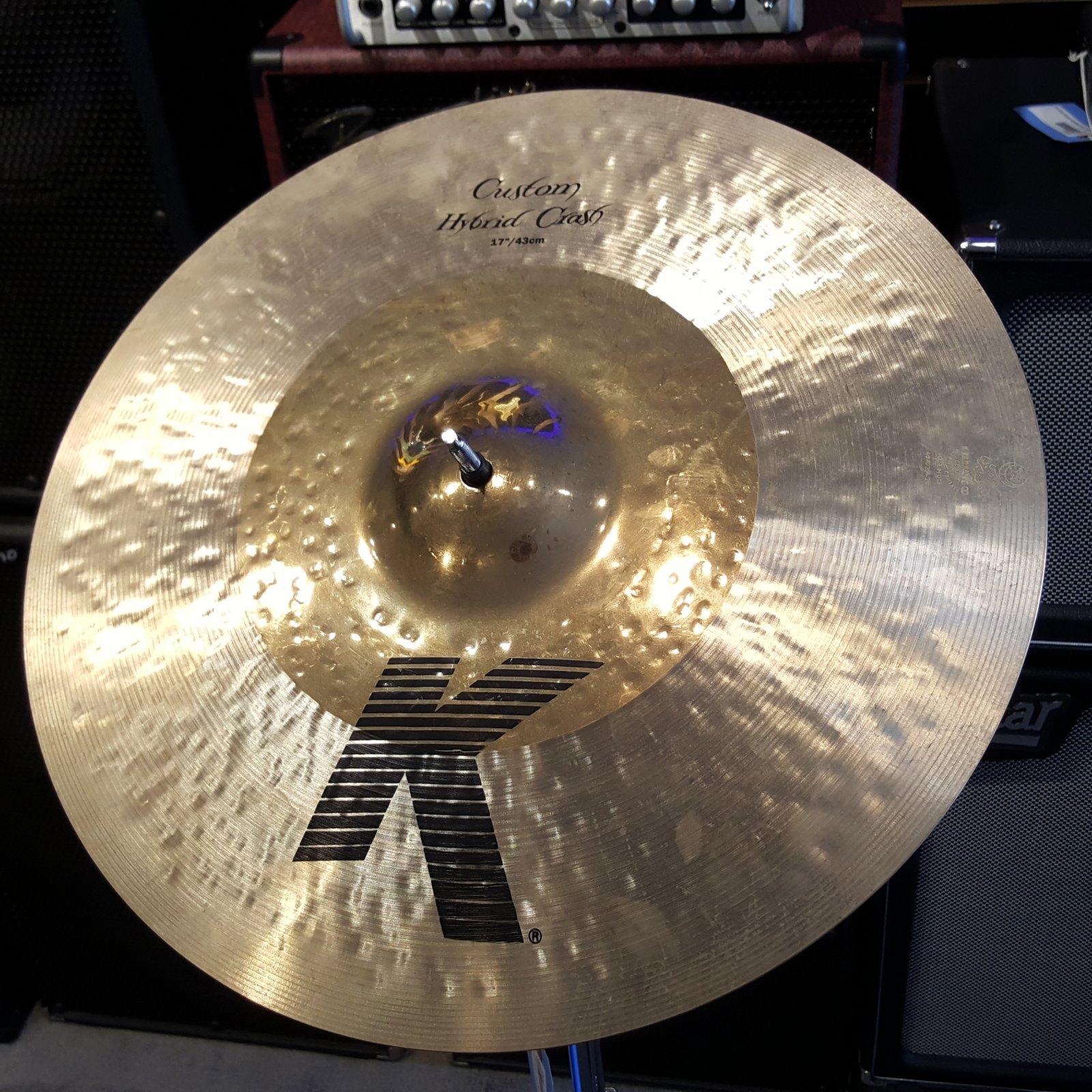 USED Zildjian 17 K Custom Hybrid Crash Cymbal 1267
