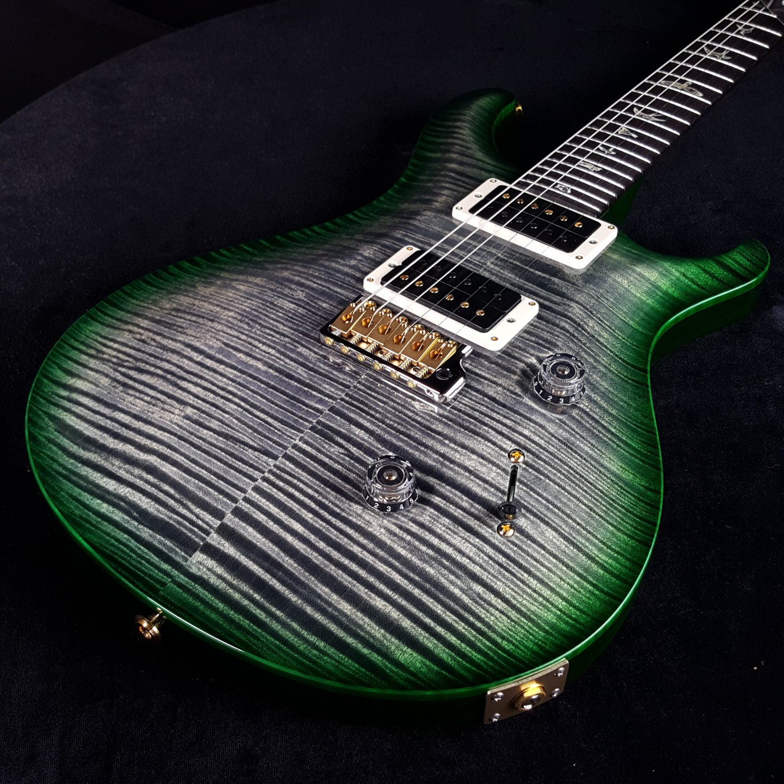 Paul Reed Smith PRS Custom 24 10 Top Custom Color, Charcoal Emerald