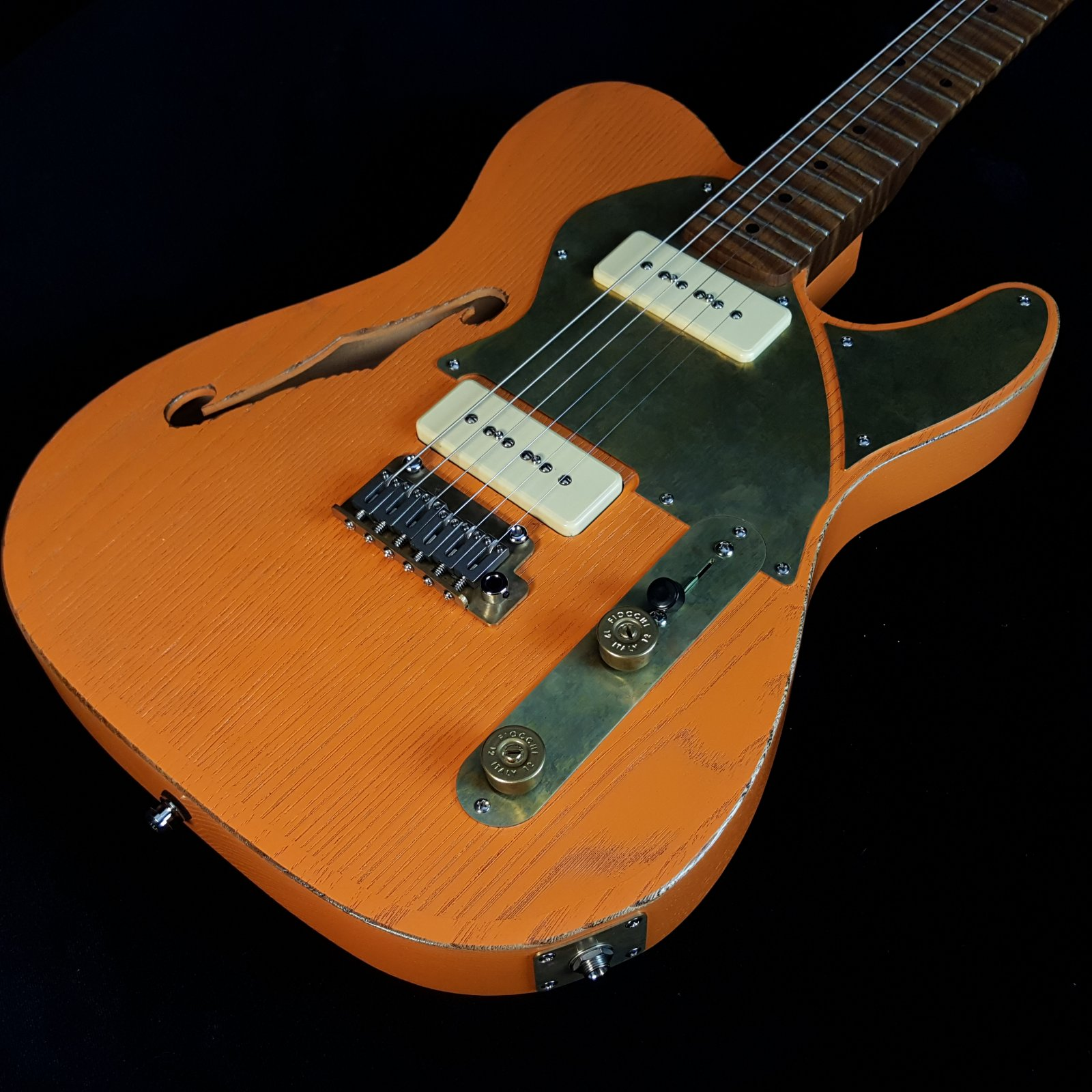 Paoletti Nancy Thinline 2P90 Lounge Series Sunset Orange, Flame Neck