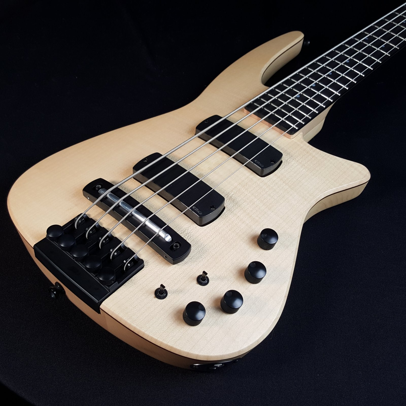 NS Design CR5 -BG-NAS 5 String Radius Bass Guitar Natural Satin with Bag