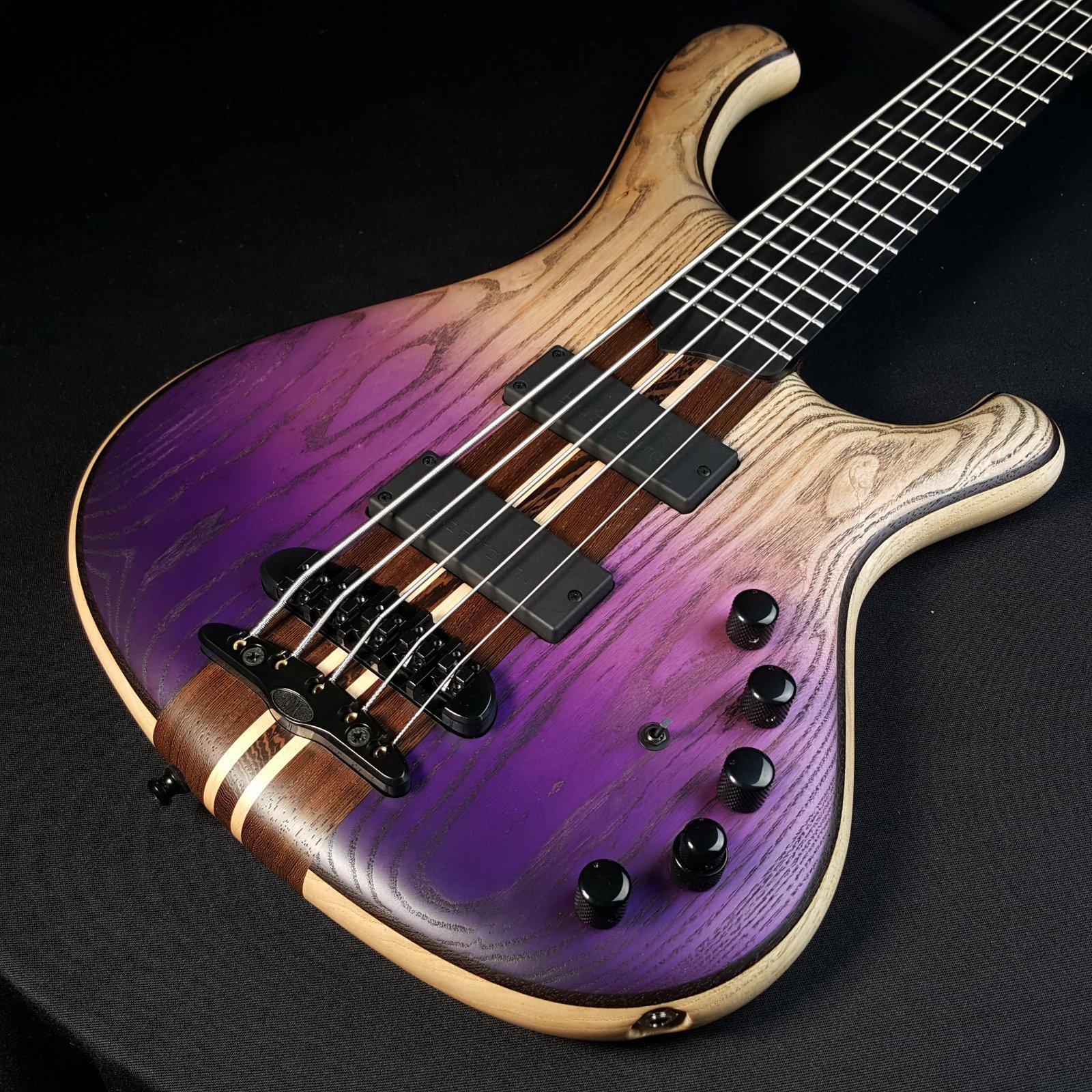 Mayones Viking 5 String Bass Classic Dirty Ash Purple Horizon