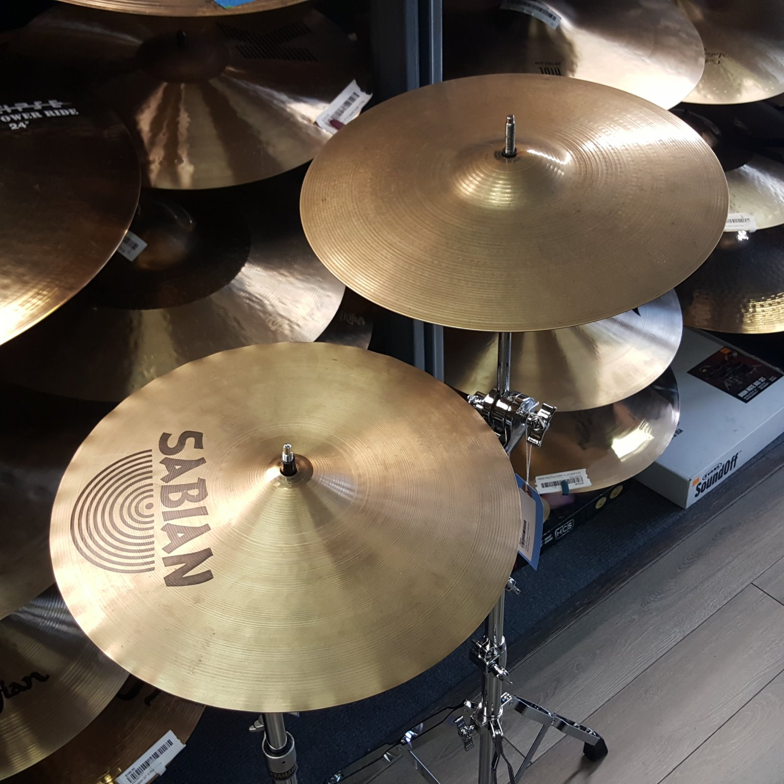 USED Sabian AAX X-Celerator Hihat Cymbals Mixed Set 1180g 1383g