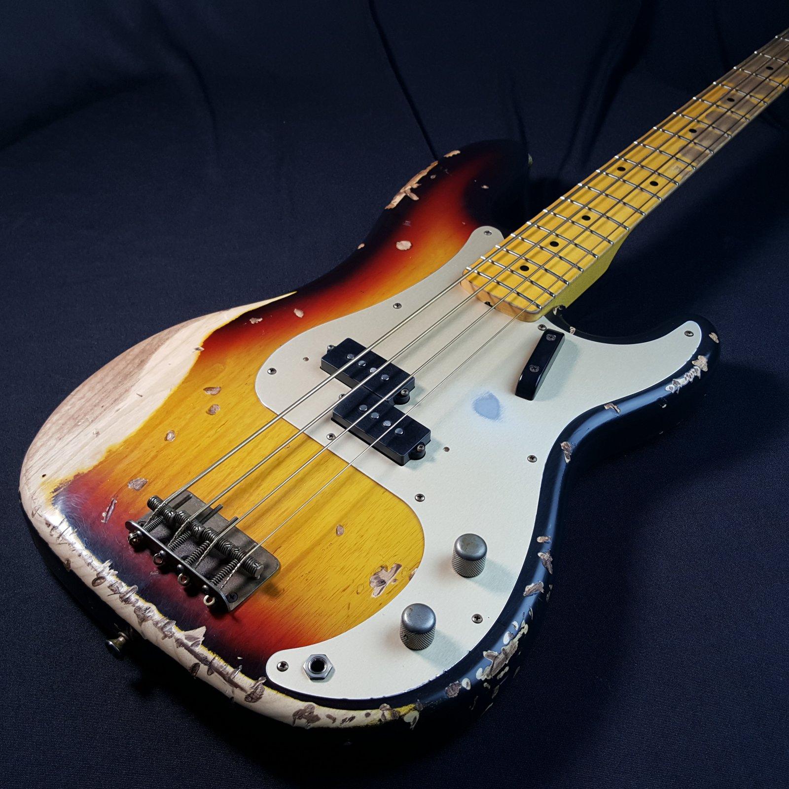 USED Bill Nash PB57 Tobacco Burst Precision Bass w/ Original Hard Case