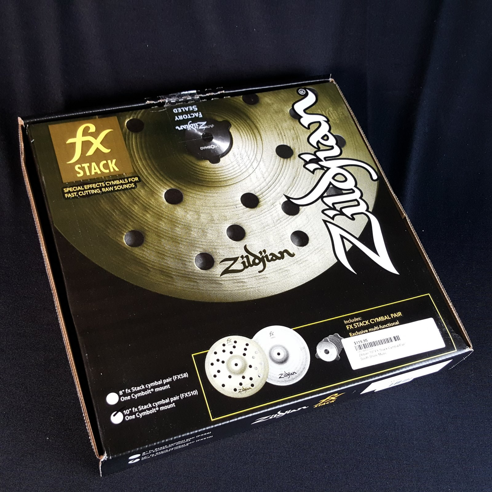 Zildjian 10 FX Stack Cymbal Pair With Mount
