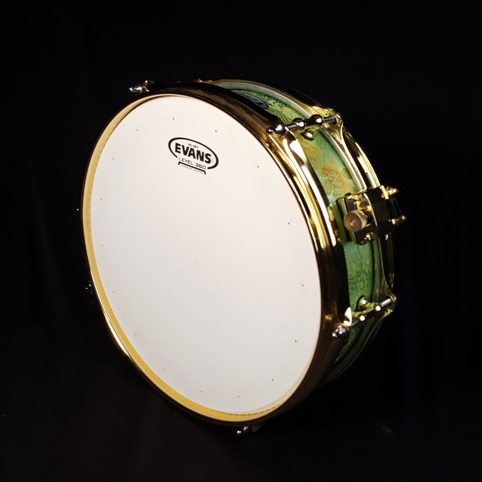 Calderwood Piccolo Snare 3.75x12 Green Brocade
