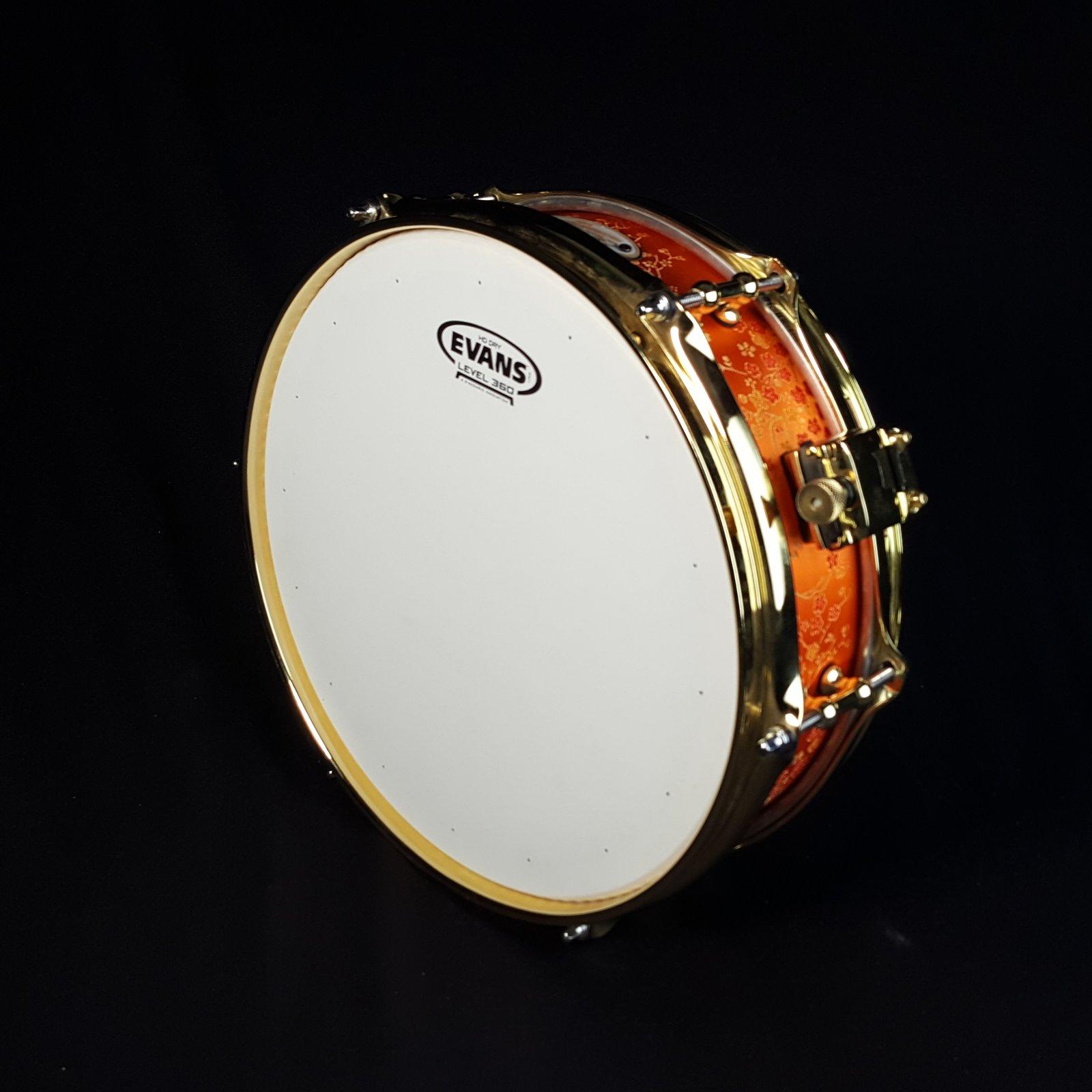 Calderwood Piccolo Snare 3.75x12 Orange Brocade