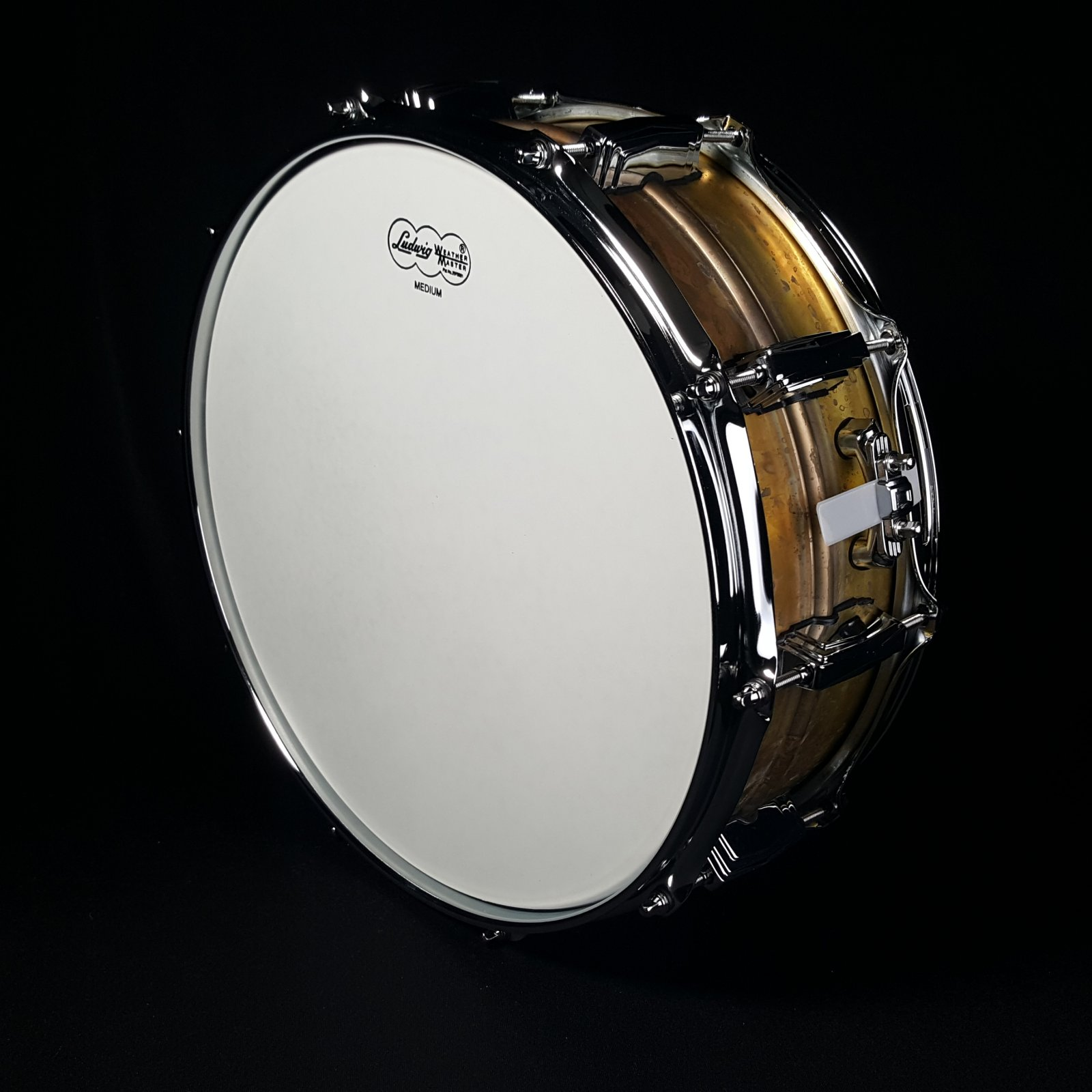Ludwig 5 x 14 LB454R Raw Brass Phonic Snare Drum