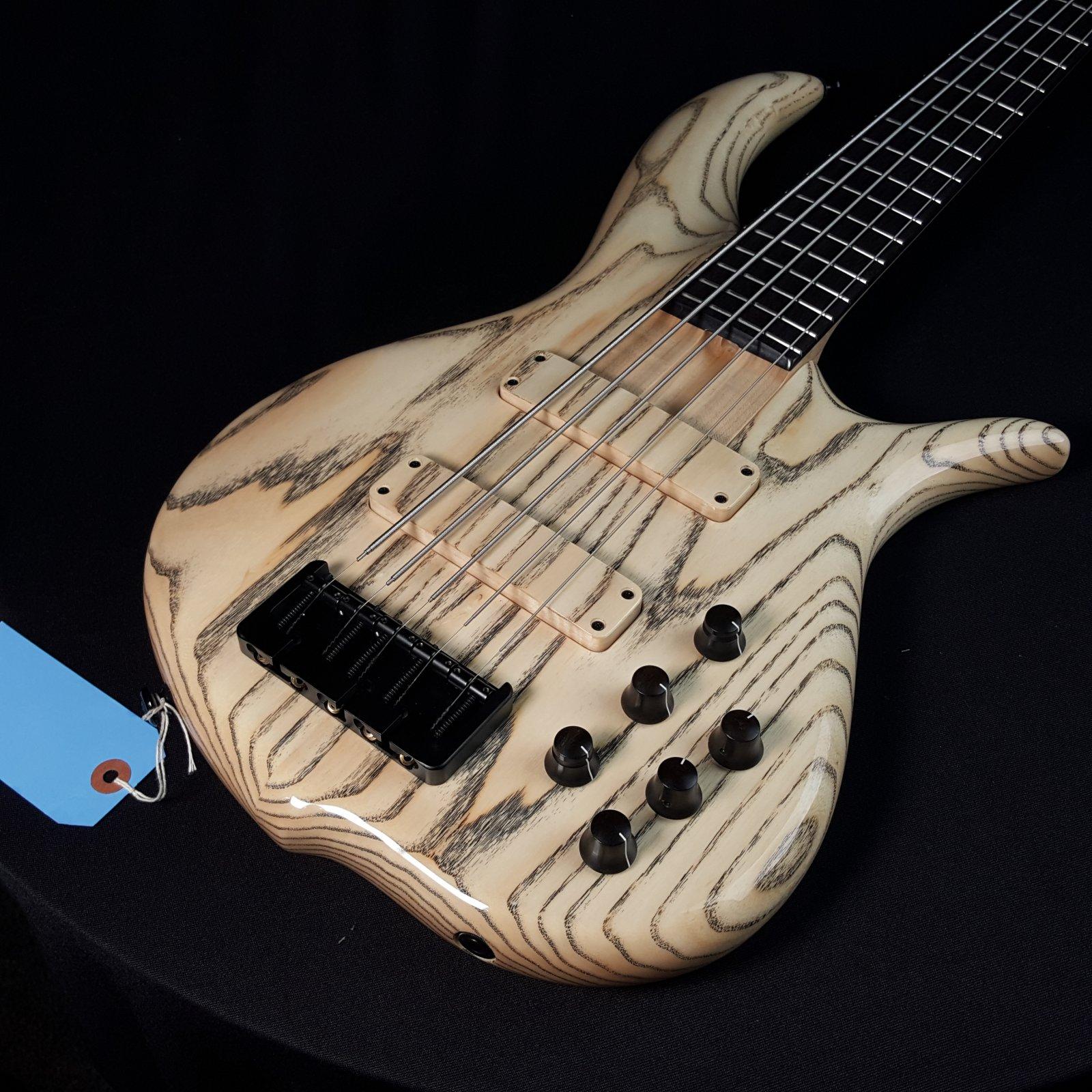 F Bass BN5 Ash 5 String Ebony Board Natural Gloss with Bag