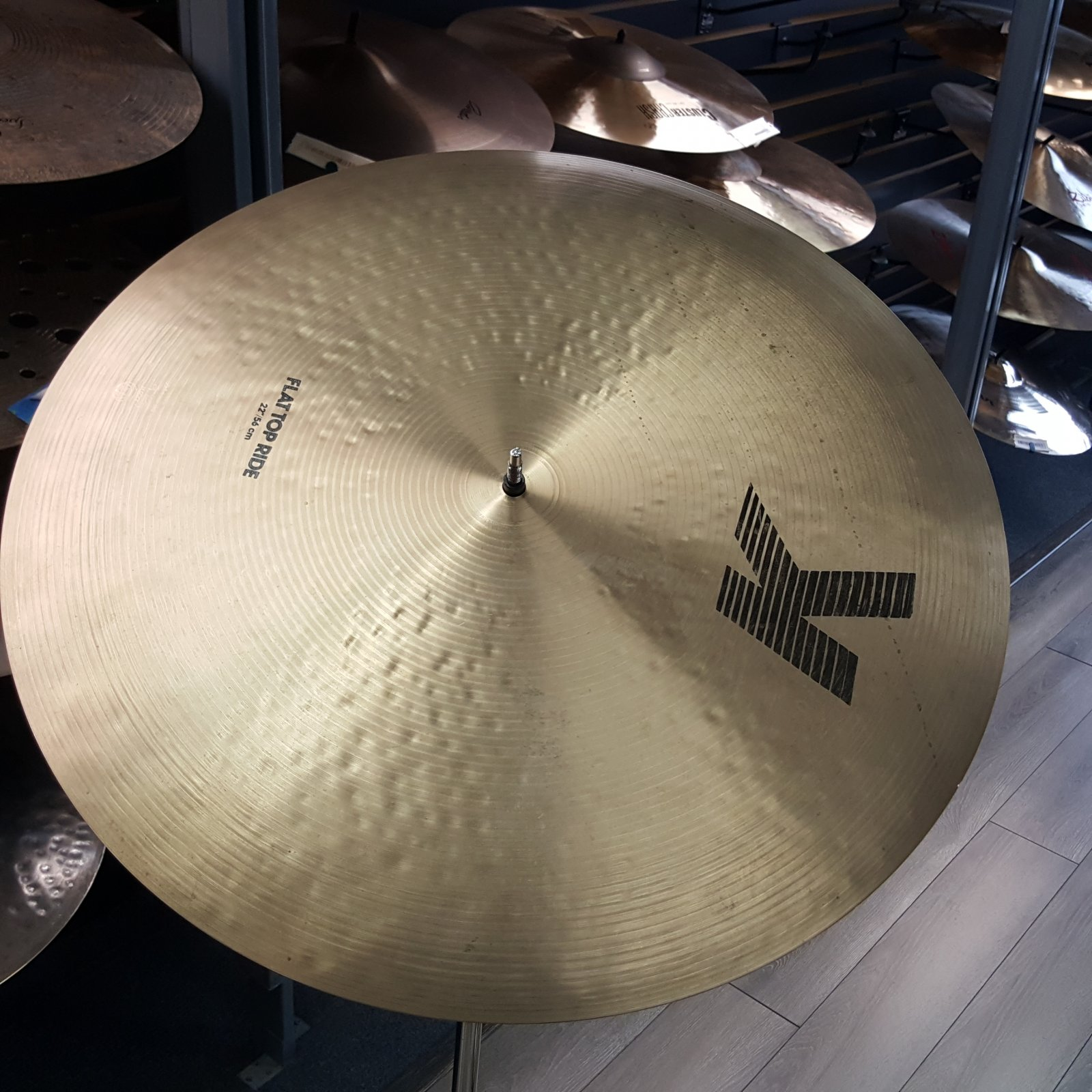 USED Zildjian 22 K Flat Top Ride Cymbal