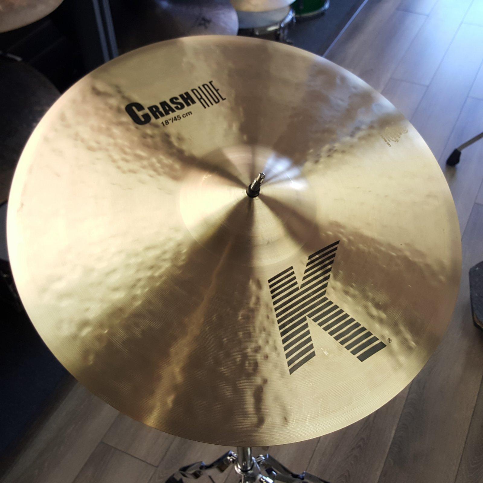 ZILDJIAN 18 K Crash Ride Cymbal K0808