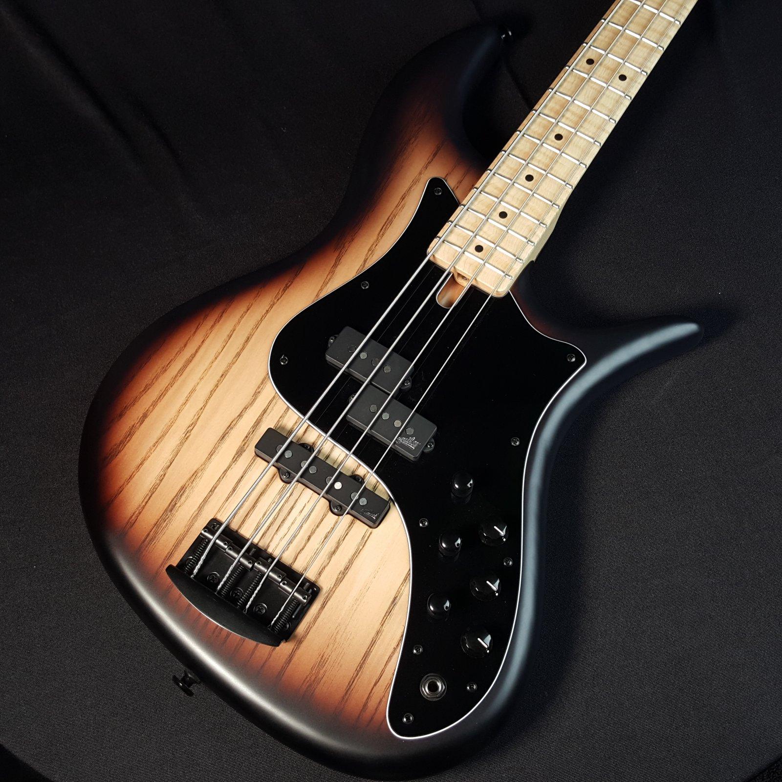 F Bass VF4-PJ Brownburst Matte 4 String Bass with Bag