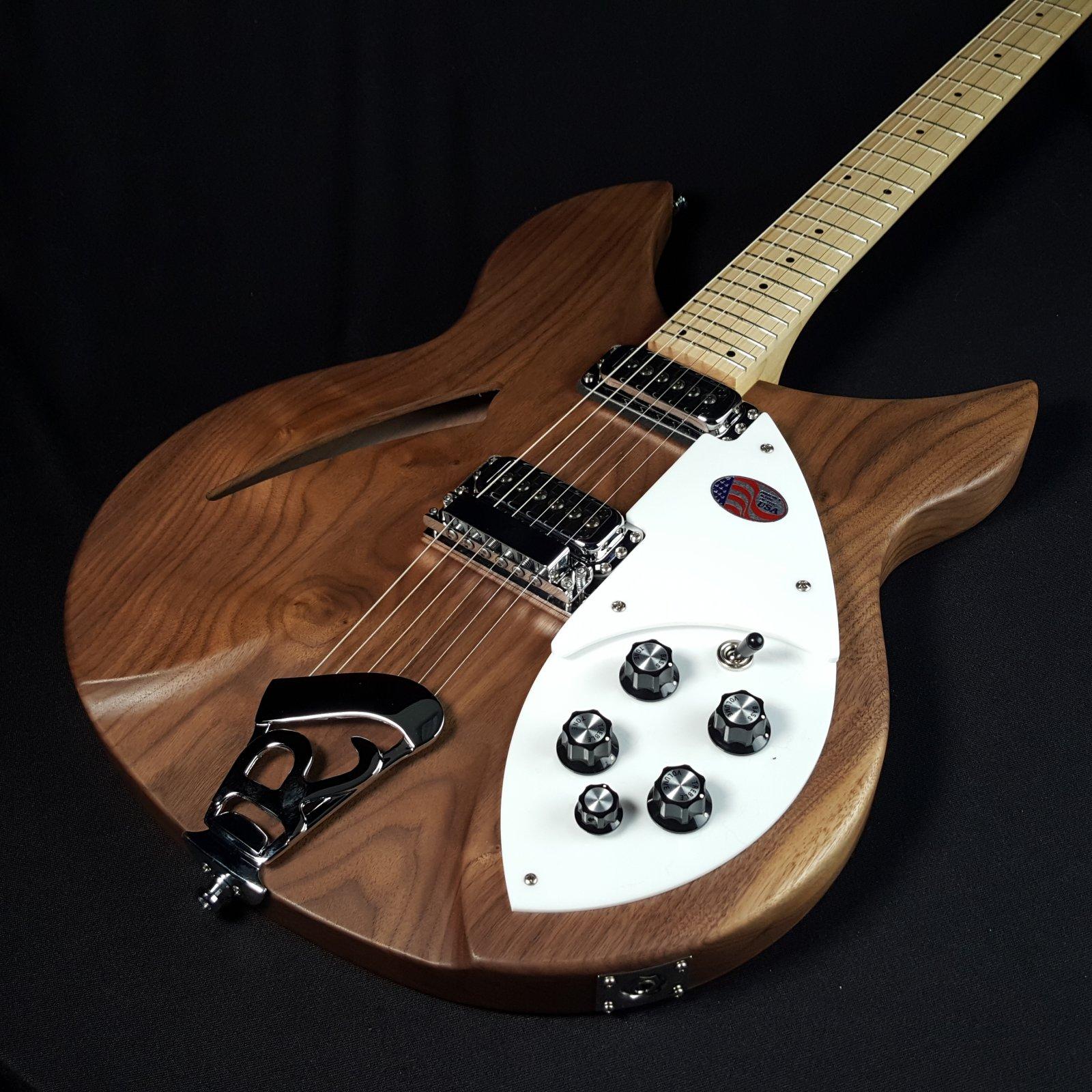 Rickenbacker 330W 330 Walnut Six String Guitar w/HS Case