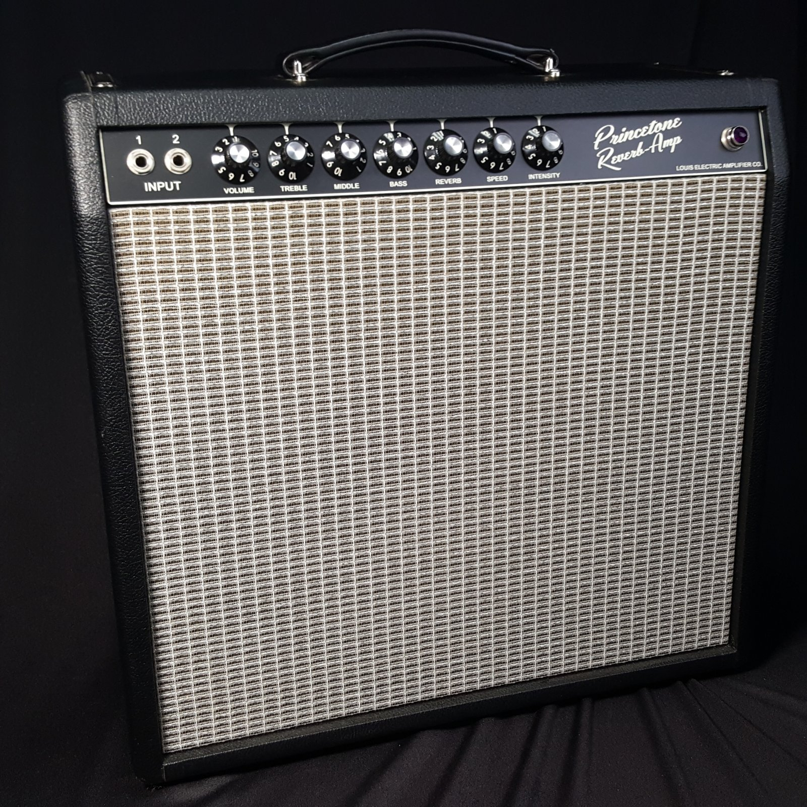 USED Louis Electric 6L6 Princetone Reverb Guitar Amplifier with Cover