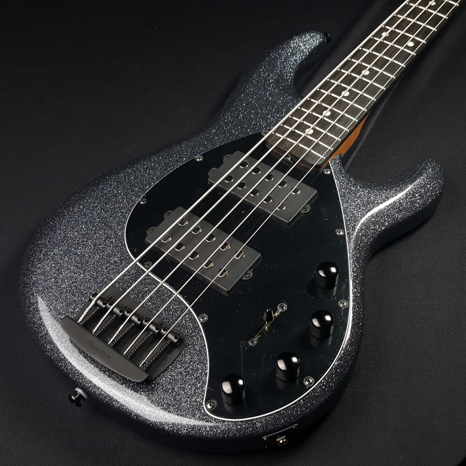 Ernie Ball Music Man Stingray 5 Special 5-String HH Ebony Fingerboard Charcoal Sparkle