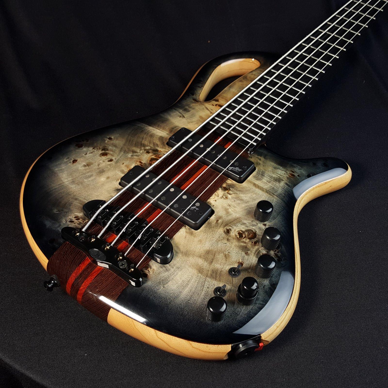 Mayones Caledonius 5 String Bass Buckeye Graphite Burst