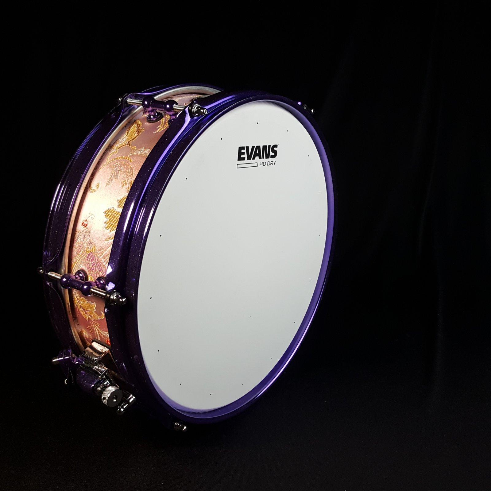 Calderwood Piccolo Snare 3.75 x 12 Pink Brocade