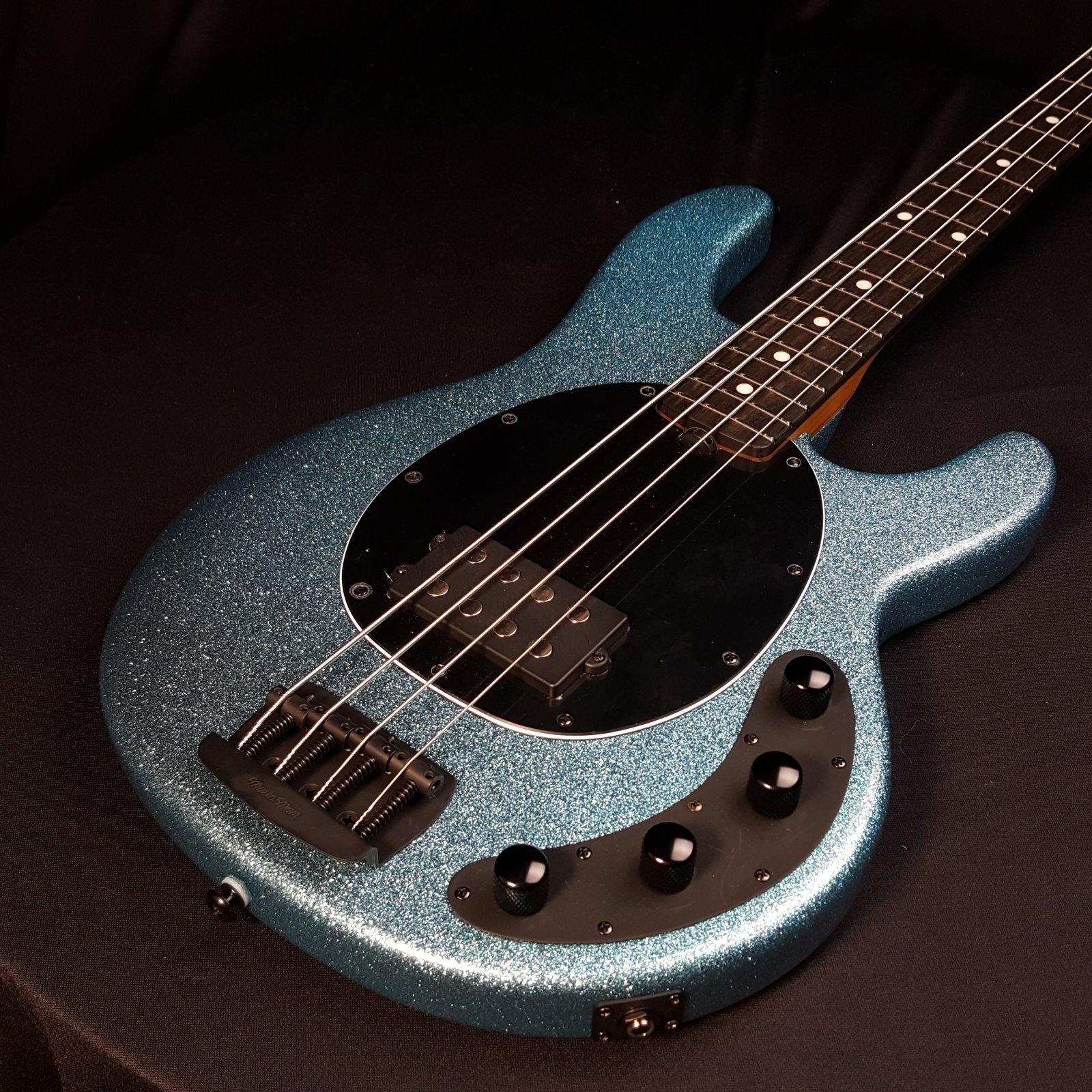 Ernie Ball Music Man Stingray Special 4 String Bass Aqua Sparkle With Case