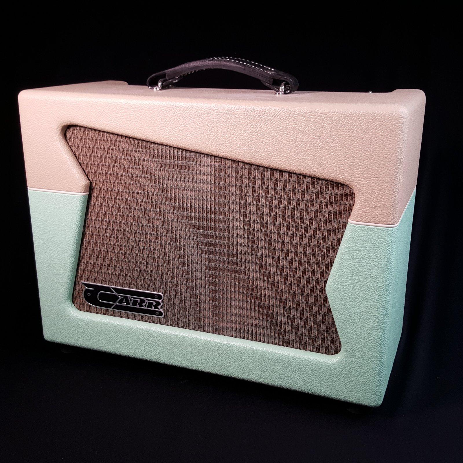USED Carr Skylark 12-Watt 1x12 Guitar Combo Amplifier Cream Seafoam Green
