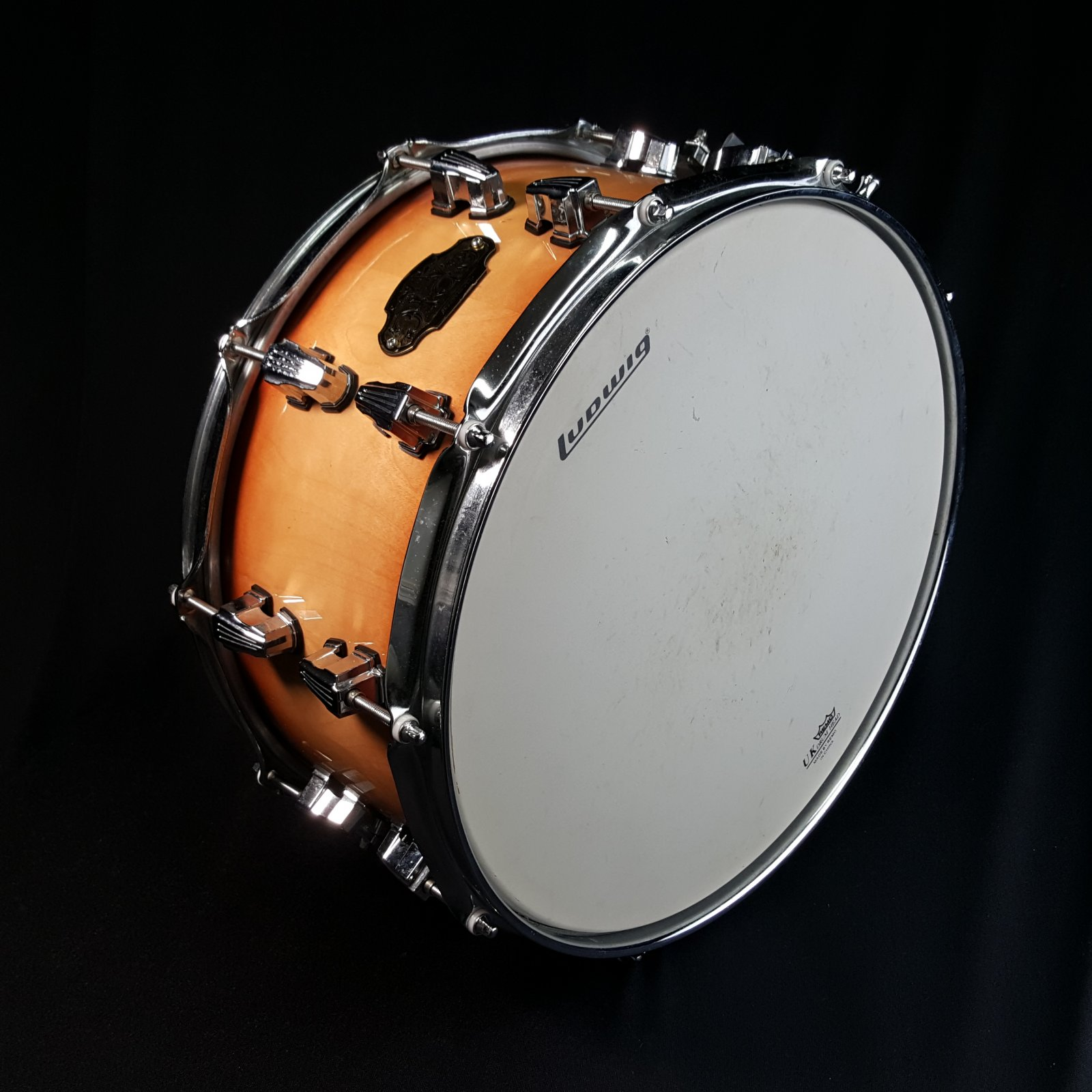 USED Ludwig 7 x 14 Epic Birch 20-ply Snare Drum Burst Finish