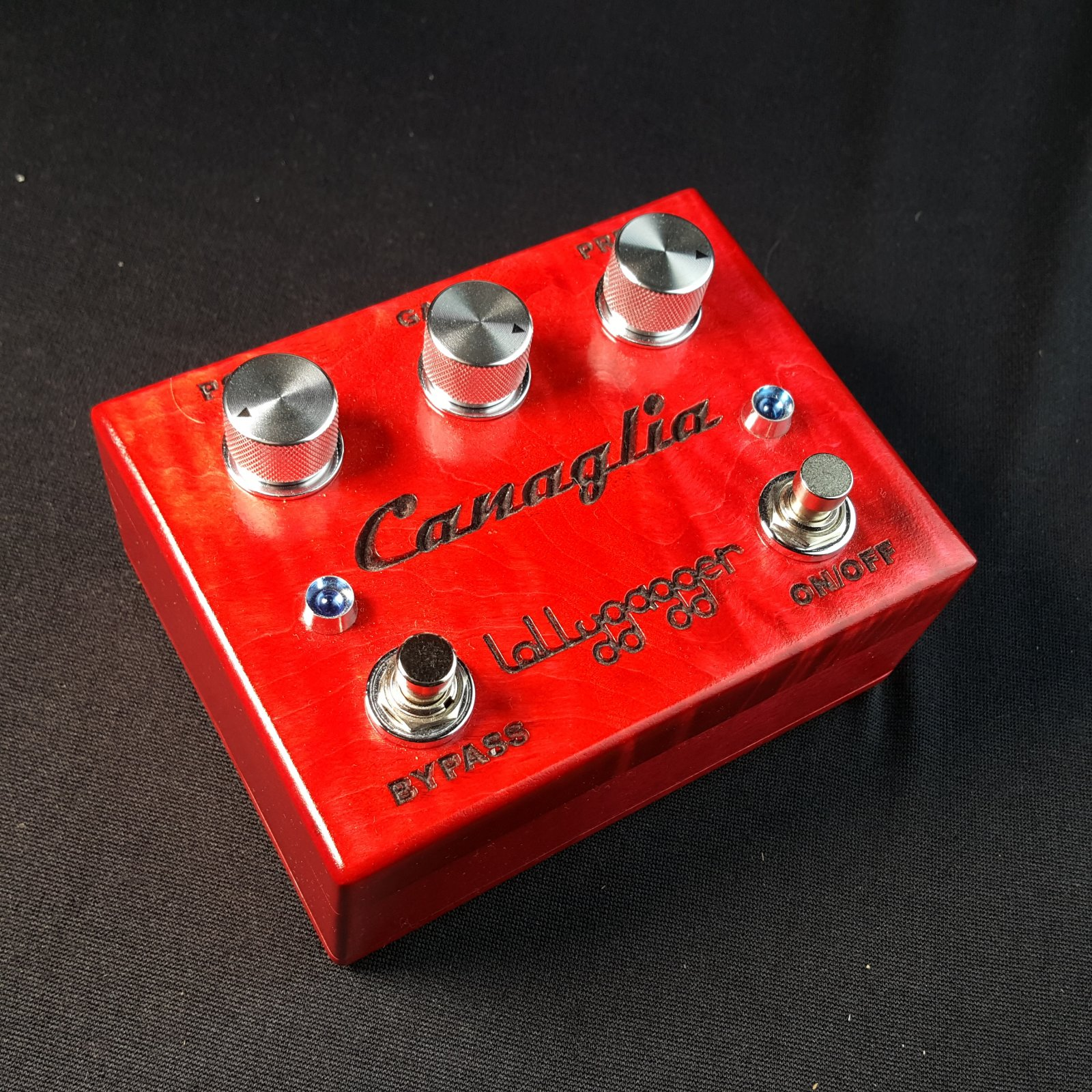 USED Lollygagger Canaglia Drive Pedal Bordeaux Red