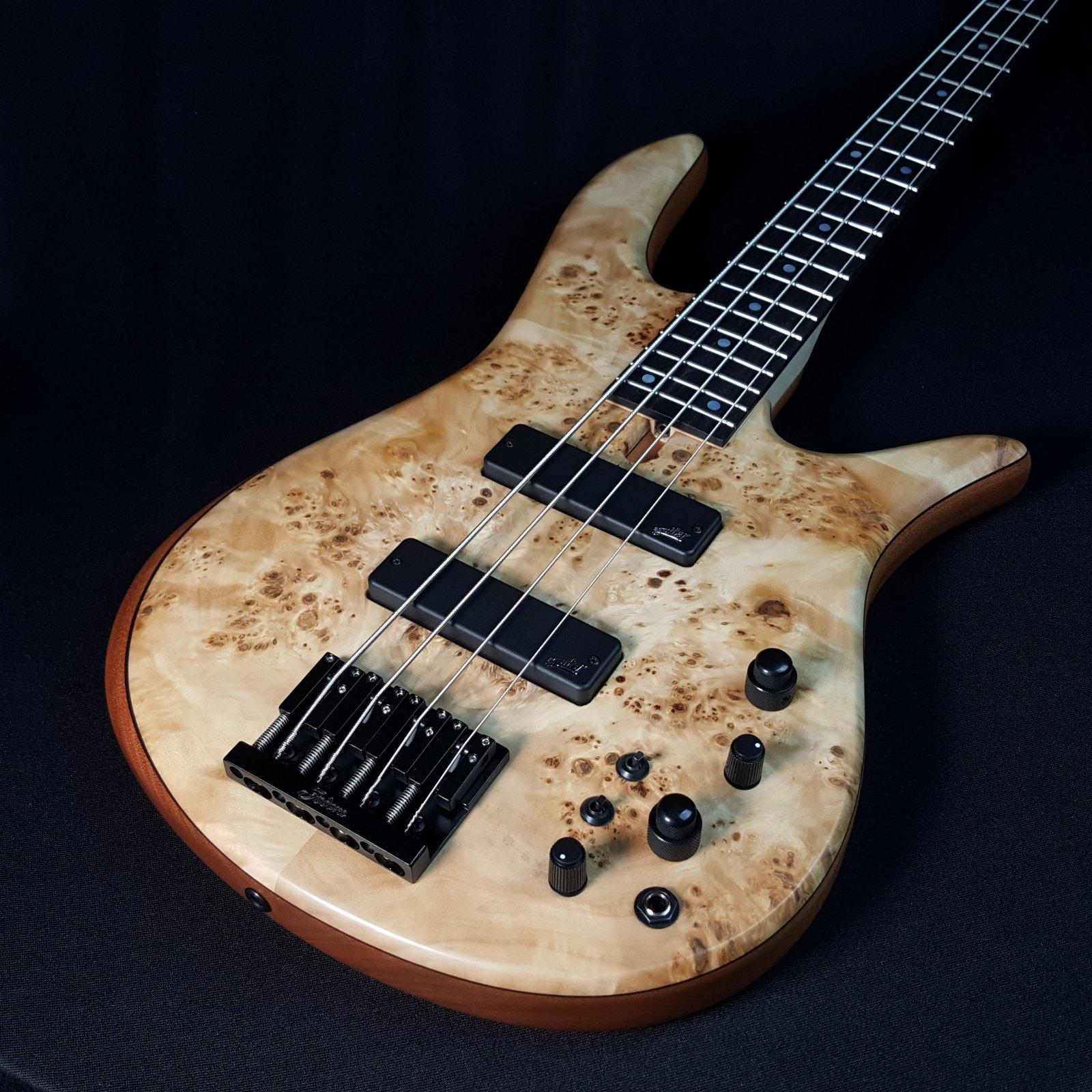 Fodera Monarch 4 Standard Special Poplar Burl 4 String Bass With Case