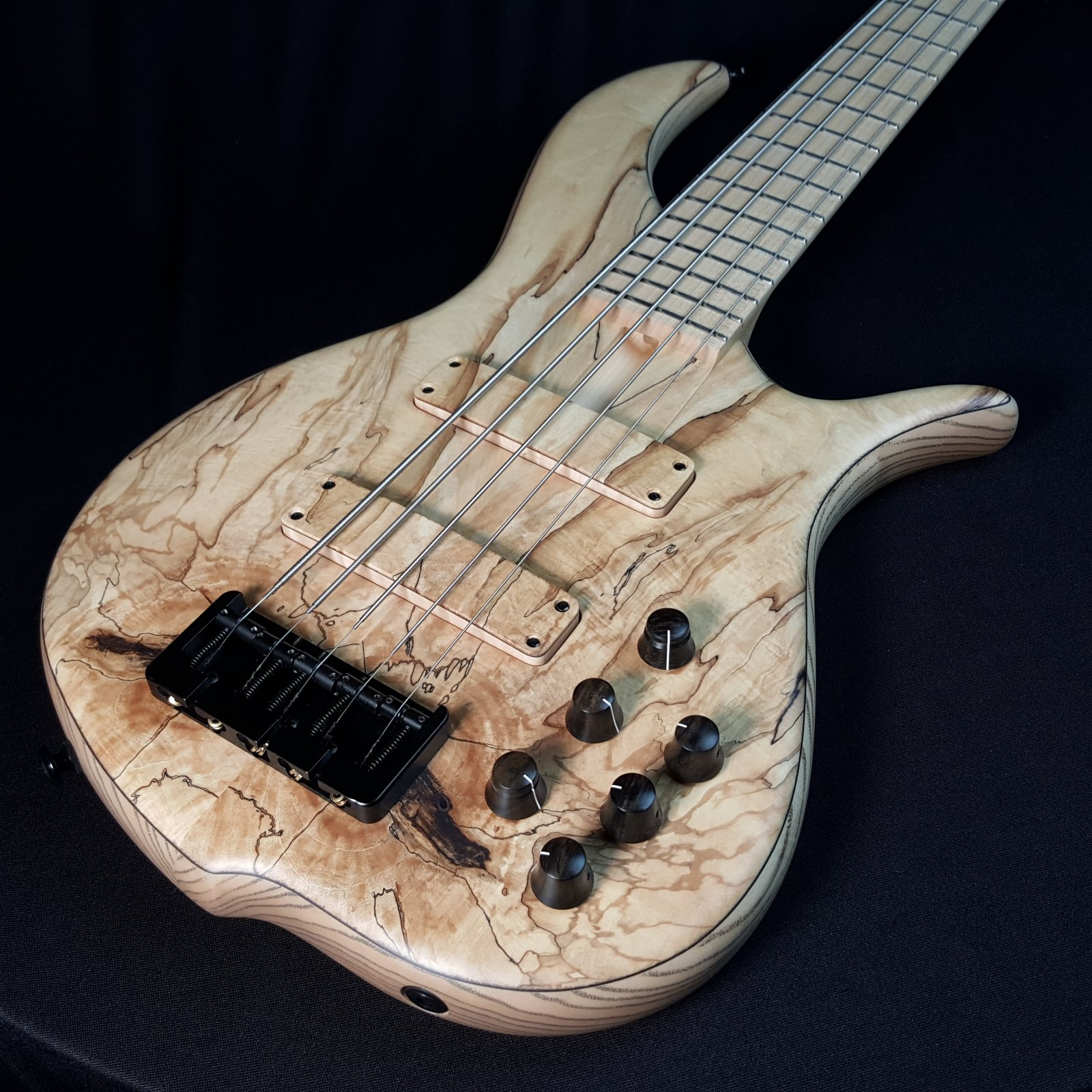 F Bass BN5 Spalted Maple Top 5 String Bass w/ Gig Bag