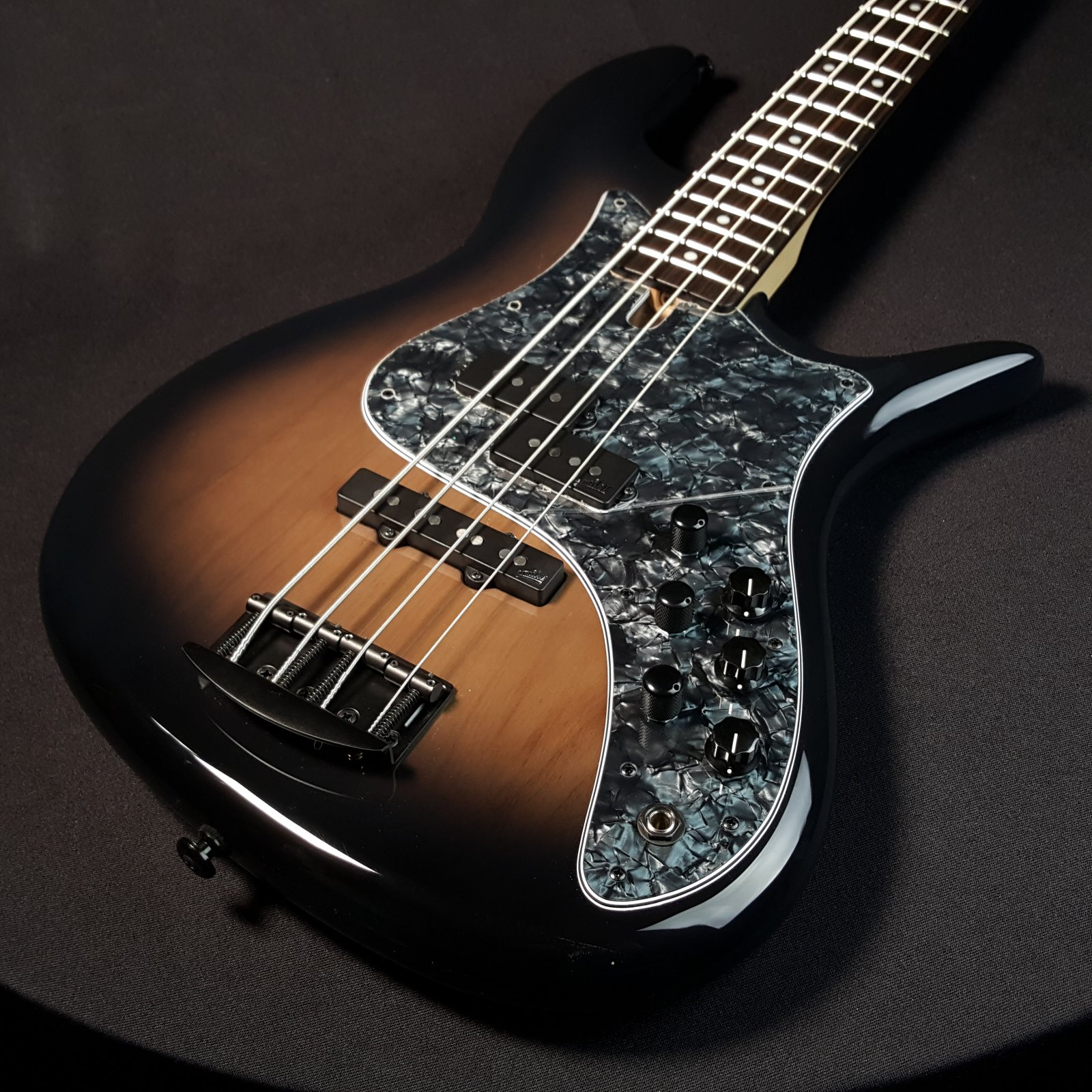 F Bass VF4 4 String Bass Gloss Charcoal Burst w/ Gig Bag