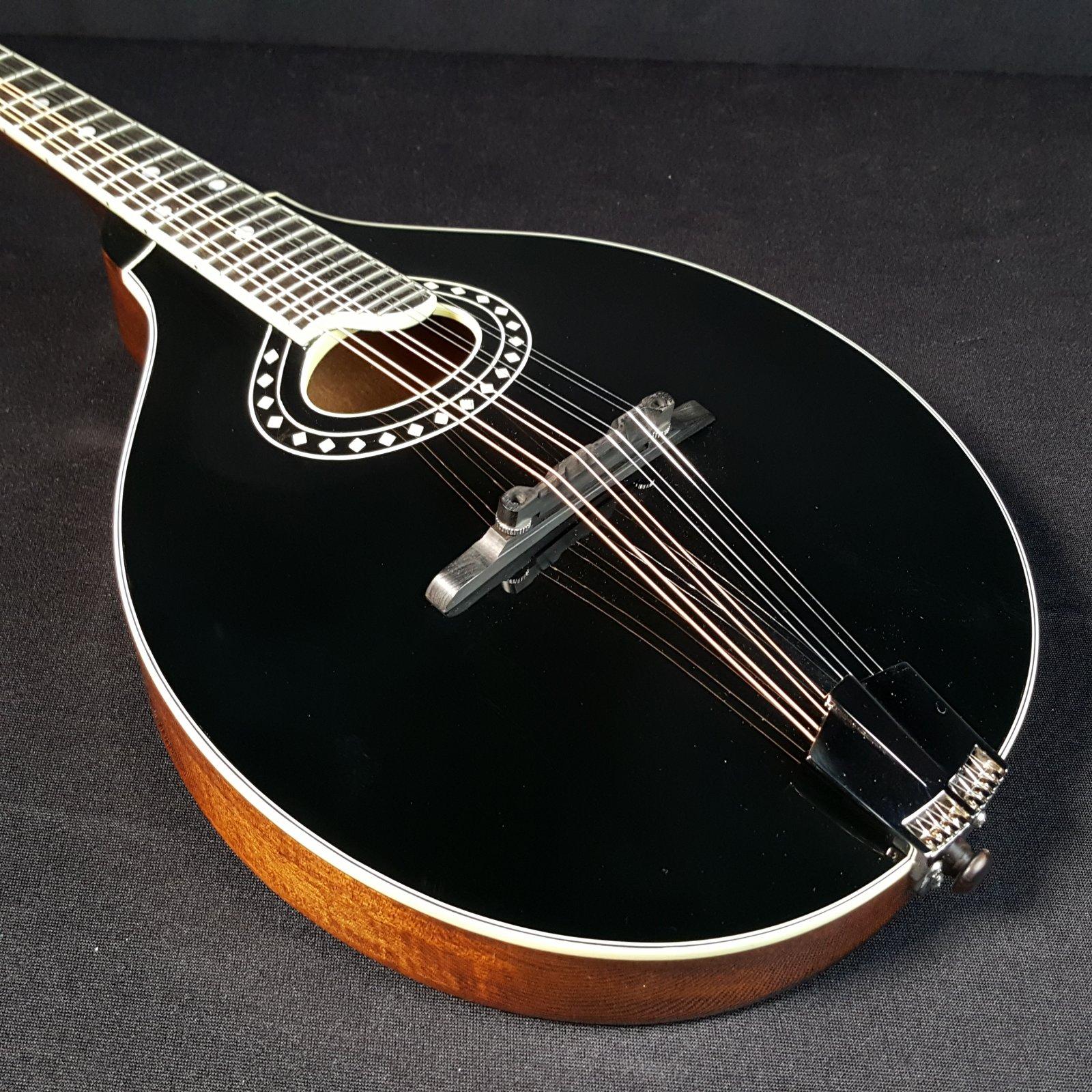 Eastman MD404-BK Oval Hole Mandolin Black With Case