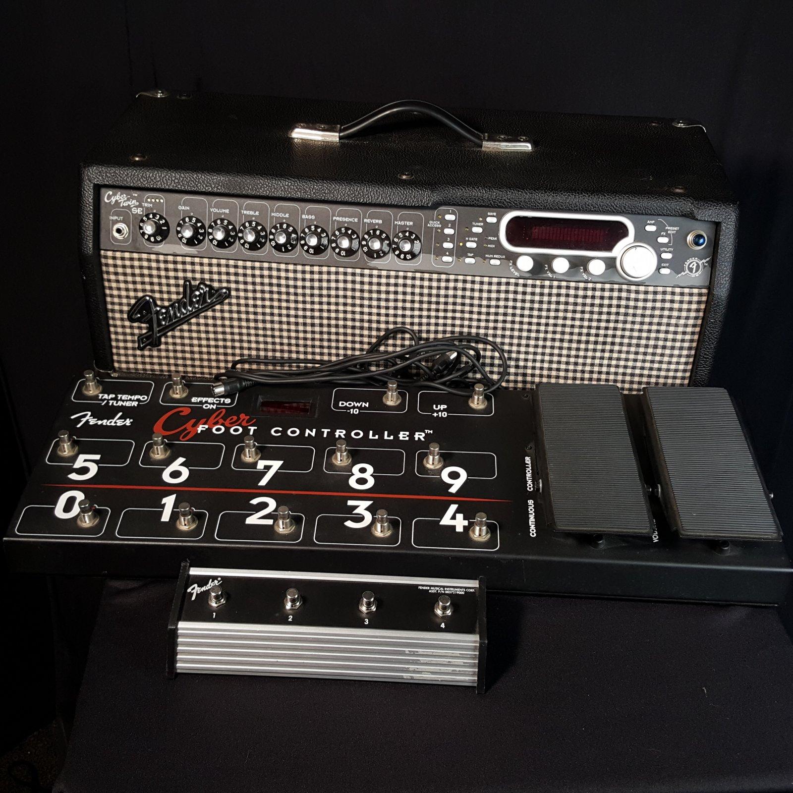 Used Fender Cyber Twin SE Head w/ Footswitch & Foot Controller