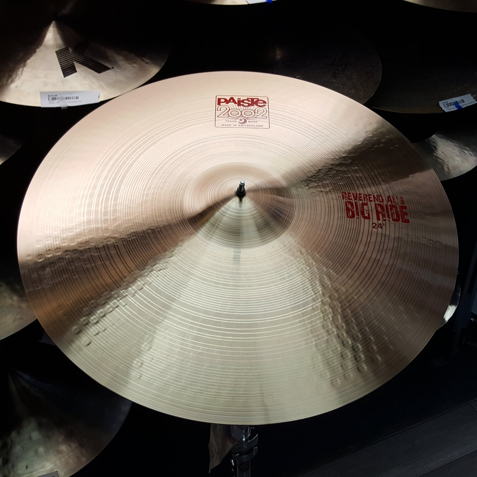 Paiste 24 2002 Reverend Al's Big Ride Cymbal