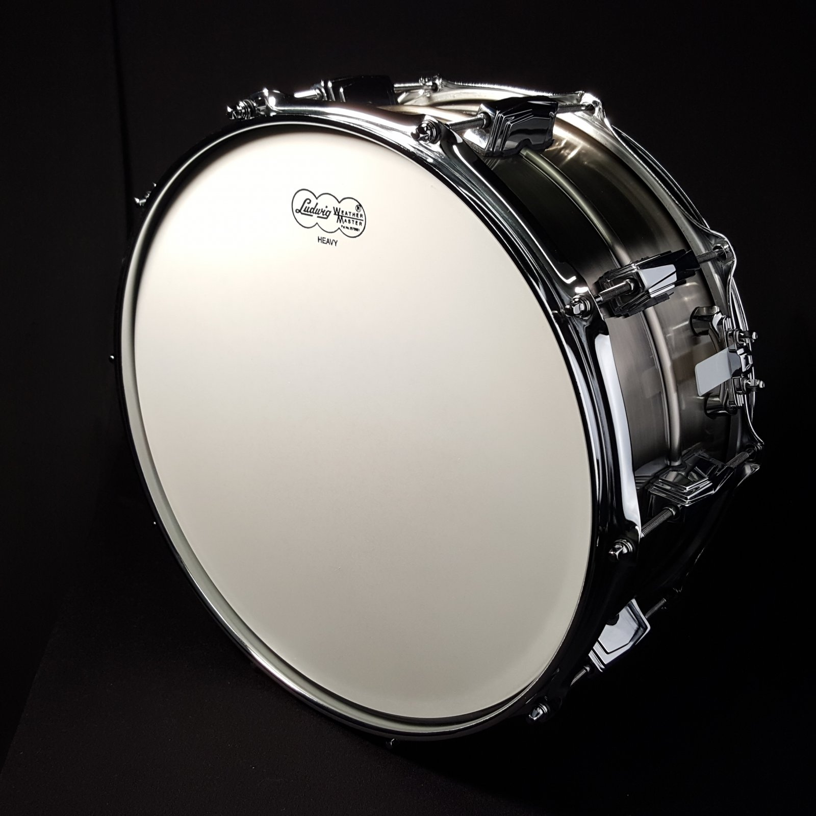 Ludwig LC665 6.5x14 Limited Edition Pewter Copper Phonic 10-Lug Snare Drum