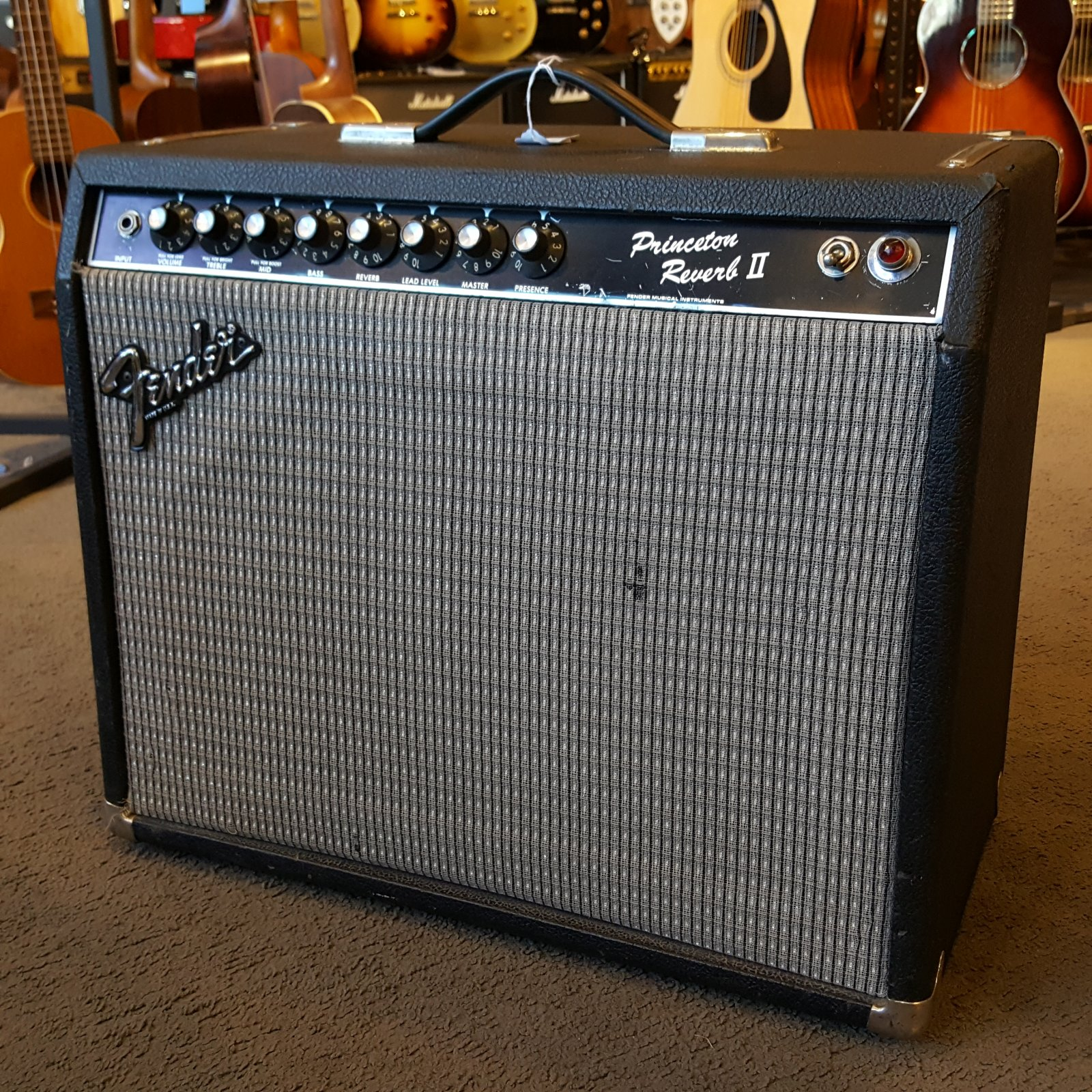 Used Fender Princeton Reverb II 1984 Amp Amplifier Hand Wired
