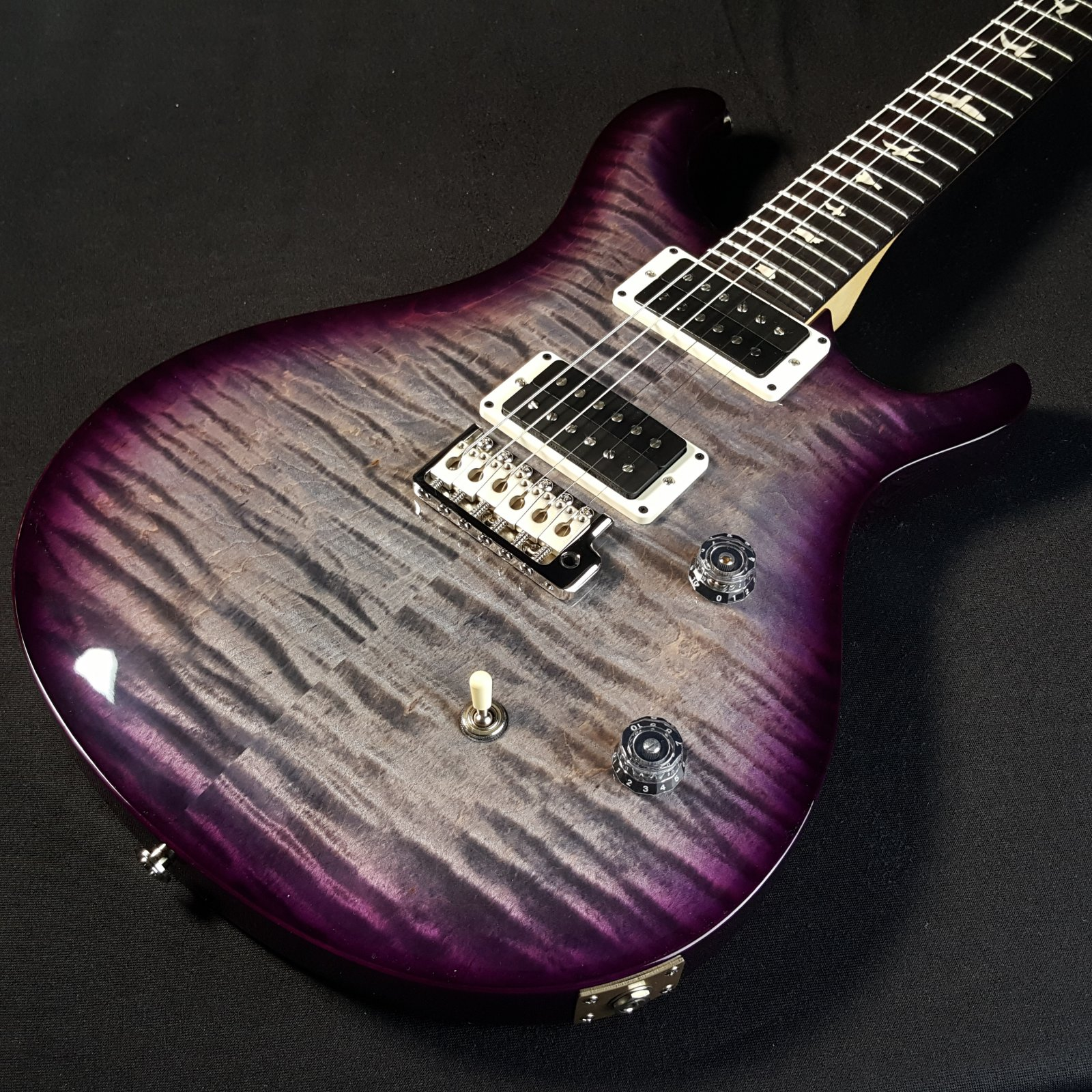 Paul Reed Smith PRS CE 24 Bolt-on Charcoal Purple Warp Burst w/bag