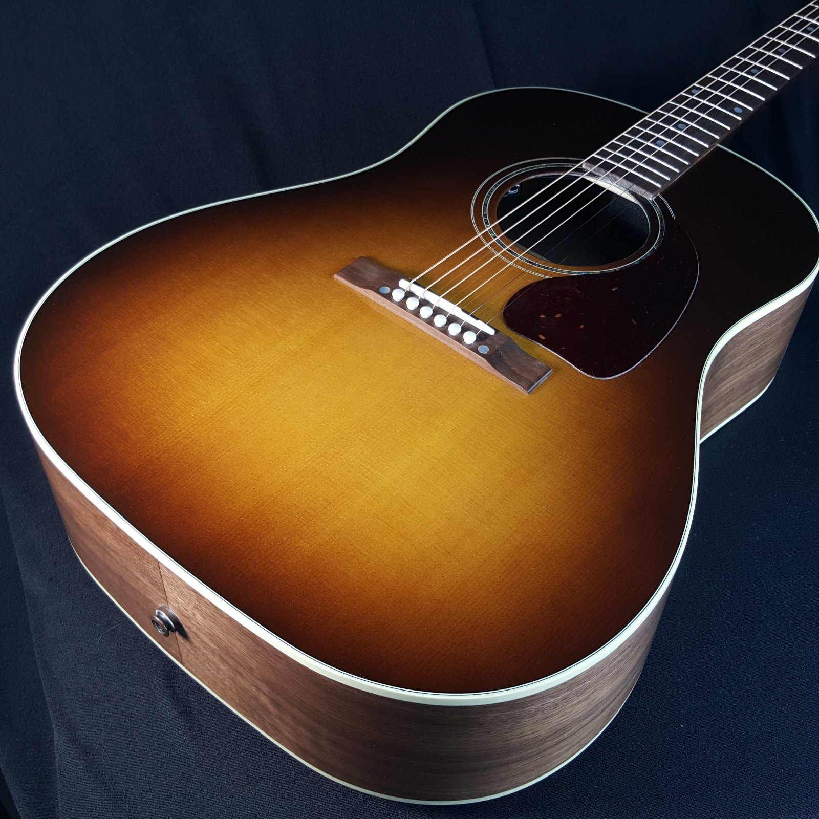 Gibson J15 Walnut Burst Acoustic Electric Guitar with Hard Case