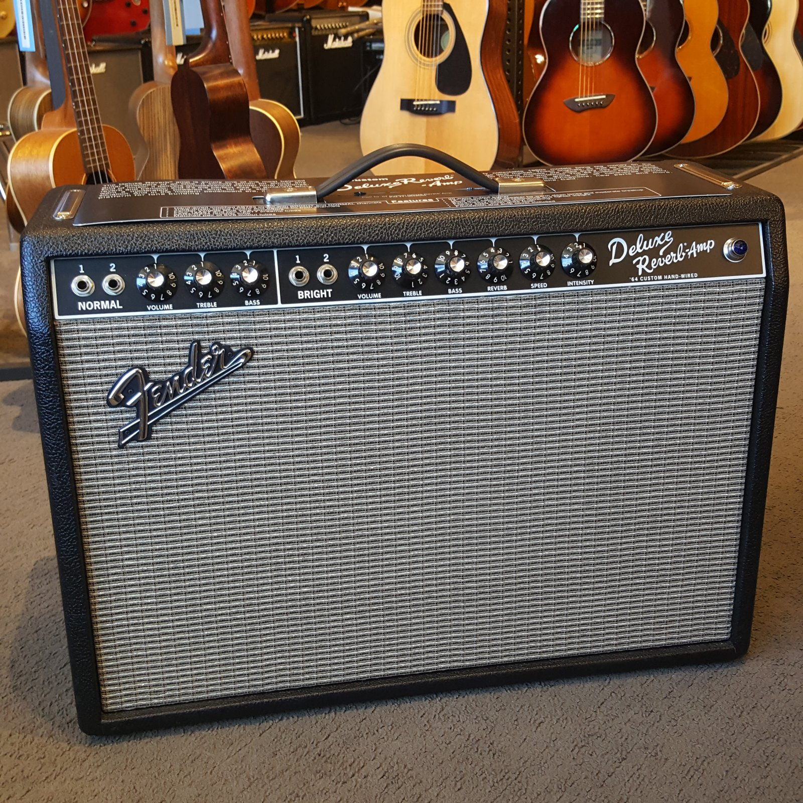 USED Fender '64 Custom Deluxe Reverb Hand Wired w/ Padded Cover and Footswitch