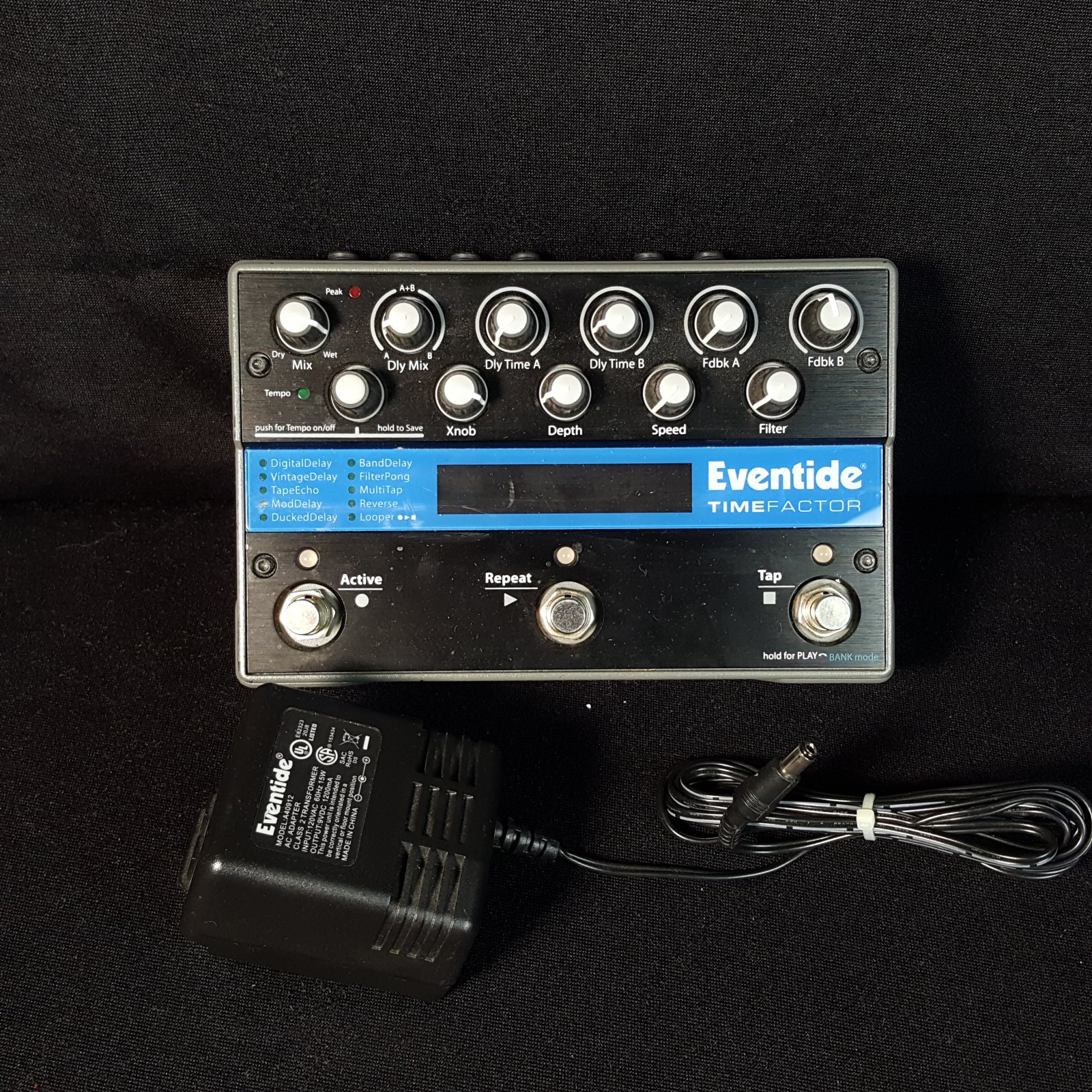 USED Eventide Time Factor Dual Delay Pedal w/Adaptor
