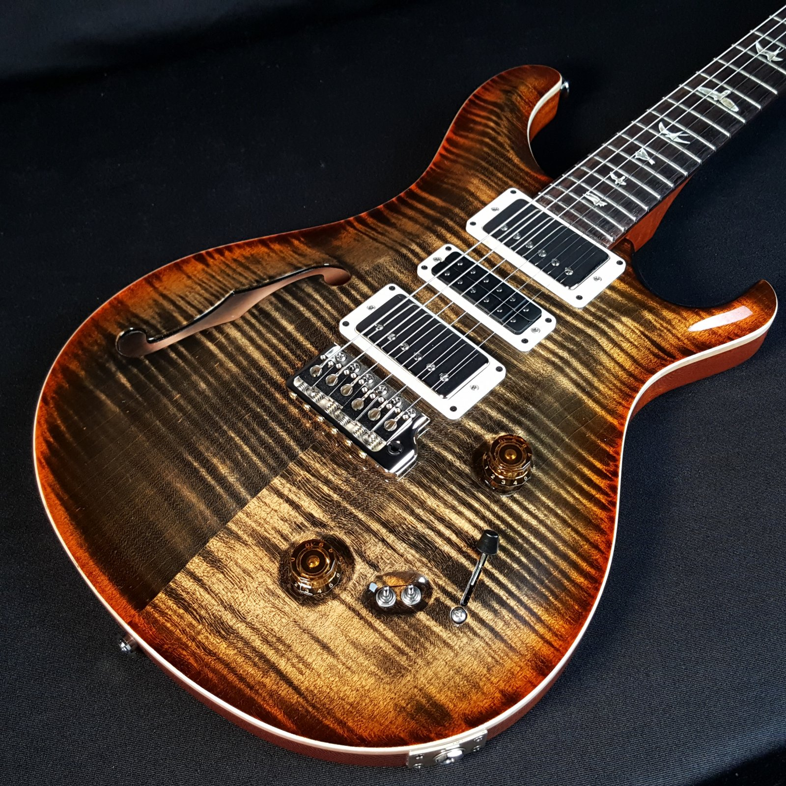 Paul Reed Smith PRS Special Semi Hollow Custom Color Amber Autumn Sky Nickel Package