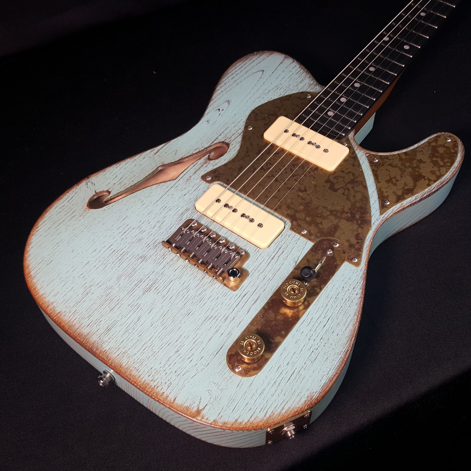Paoletti Lounge Series 2P90 Nancy Electric Guitar Surf Color w/Hard Case