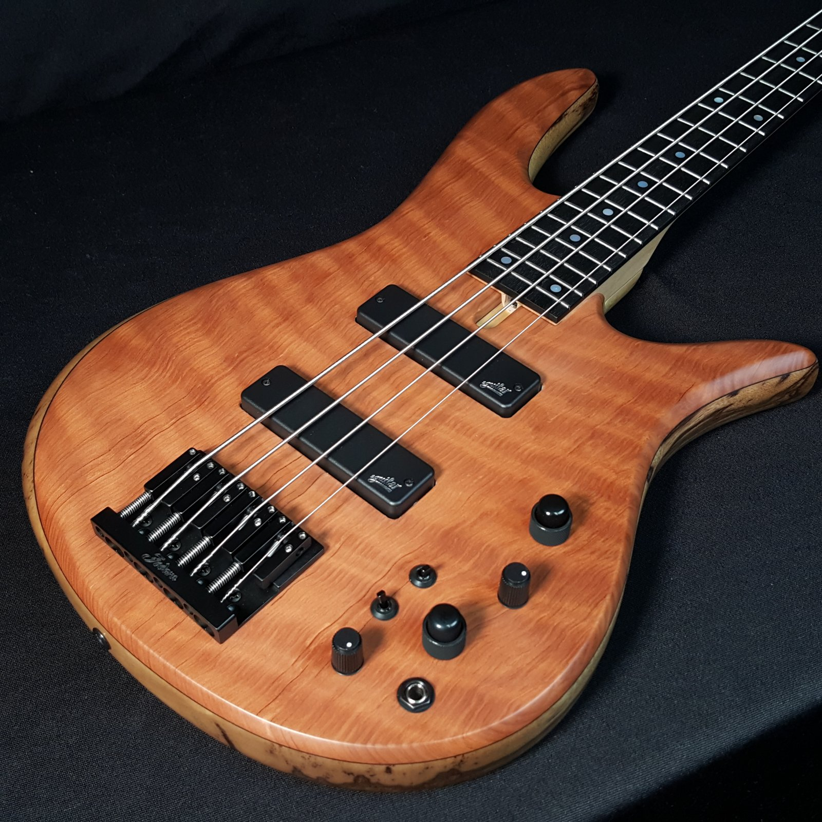 Fodera Monarch 4 Standard Special Redwood Flame 4 String Bass