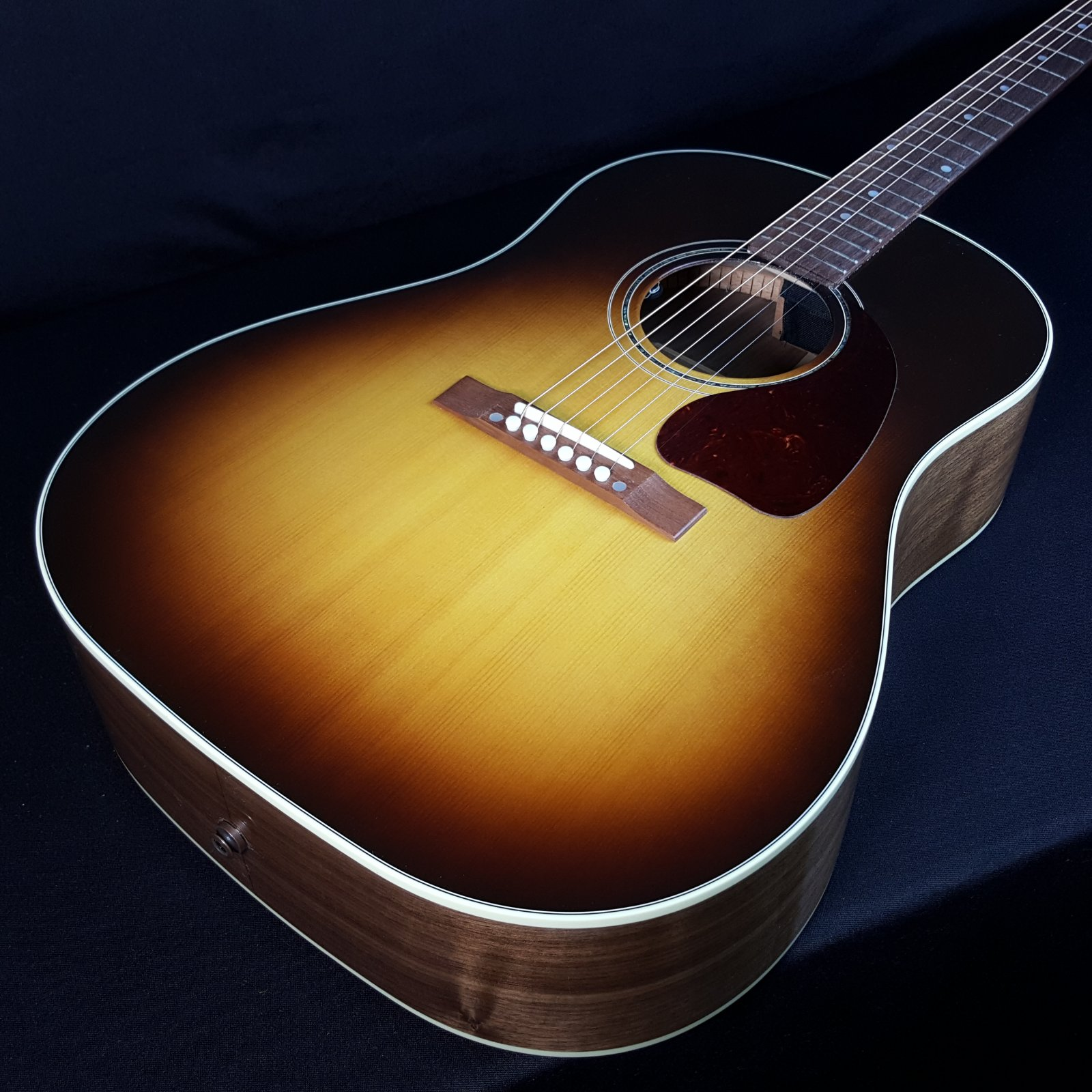 Gibson J15 Standard Walnut Burst Acoustic Electric Guitar with Hard Case