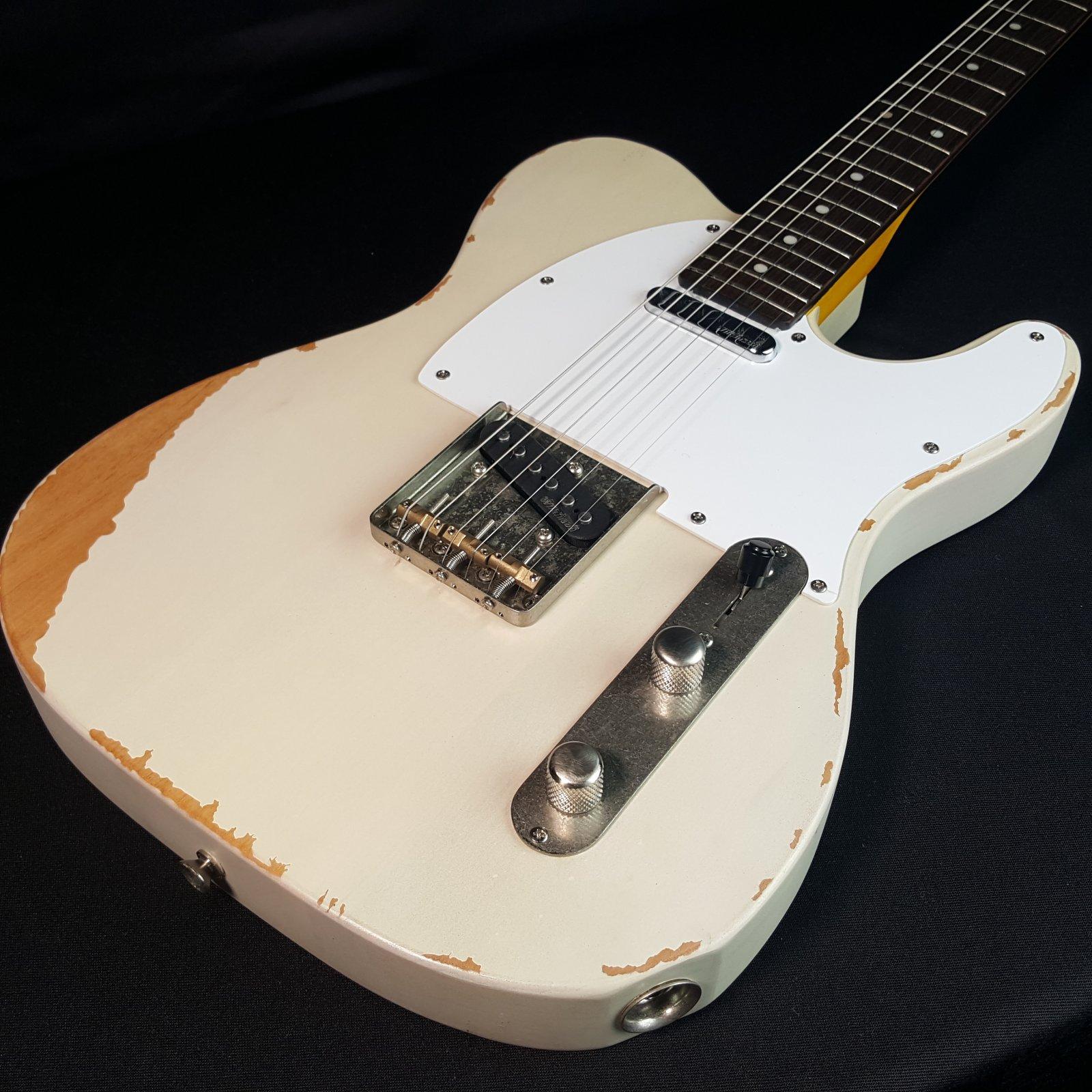 Vintage Icon Distressed V62MRAB Blonde Electric Guitar Tele Style