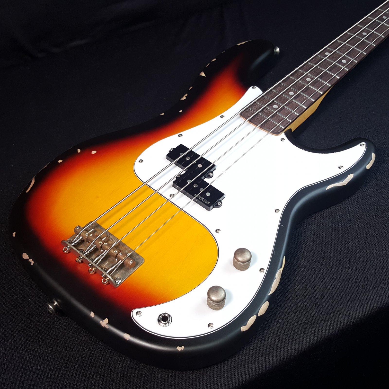 Vintage Icon Distressed V4MR SSB Sunburst 4 String Bass