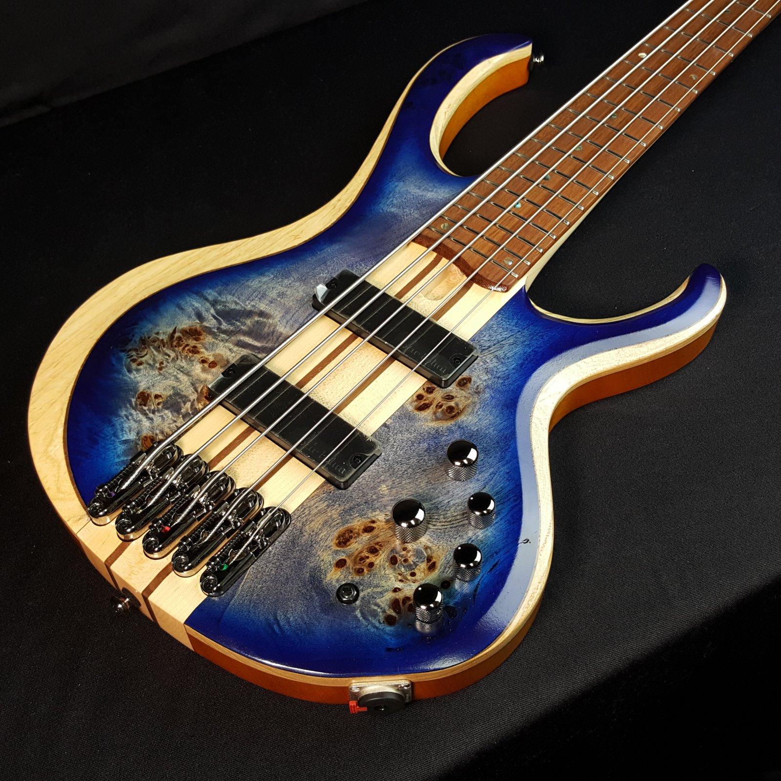 Ibanez BTB845CBL 5-String Bass Cerulean Blue Burst Low Gloss