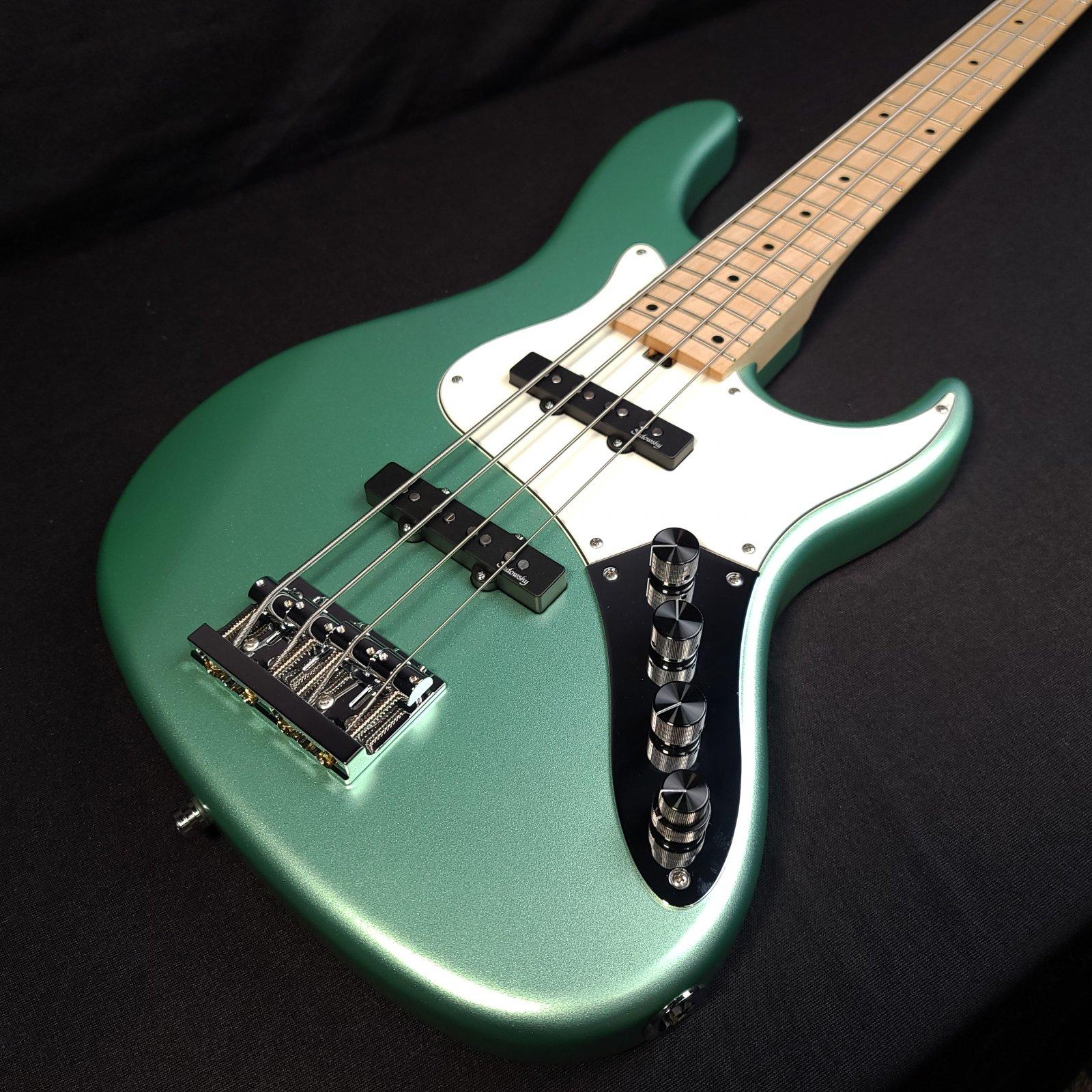 Sadowsky MetroLine 24-Fret Vintage 4-String Bass, Sage Green Metallic Satin