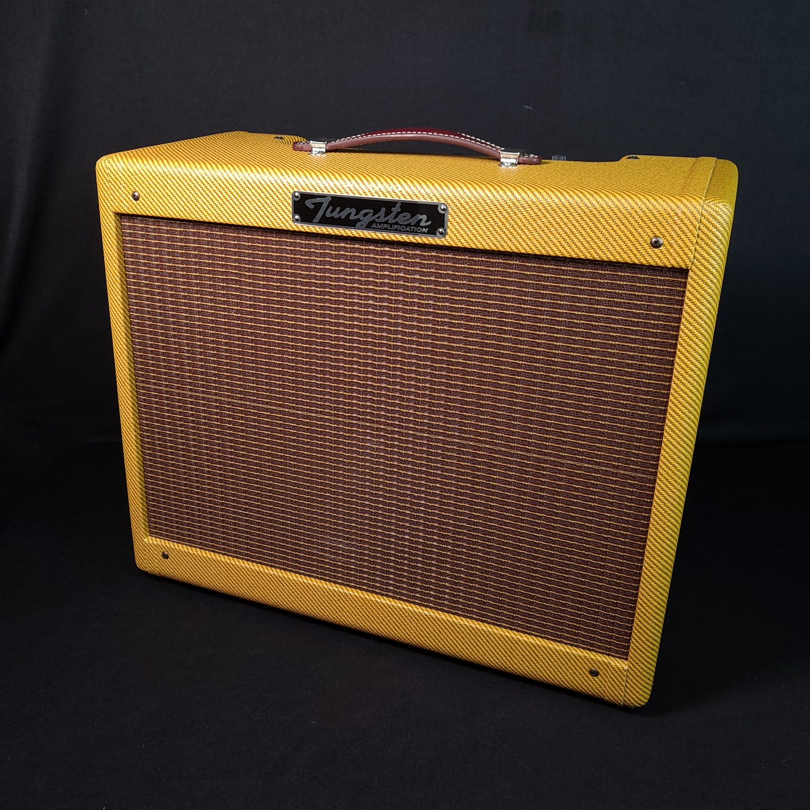 USED Tungsten Oxnard 12 Tweed Electric Guitar Amplifier w/ Cover