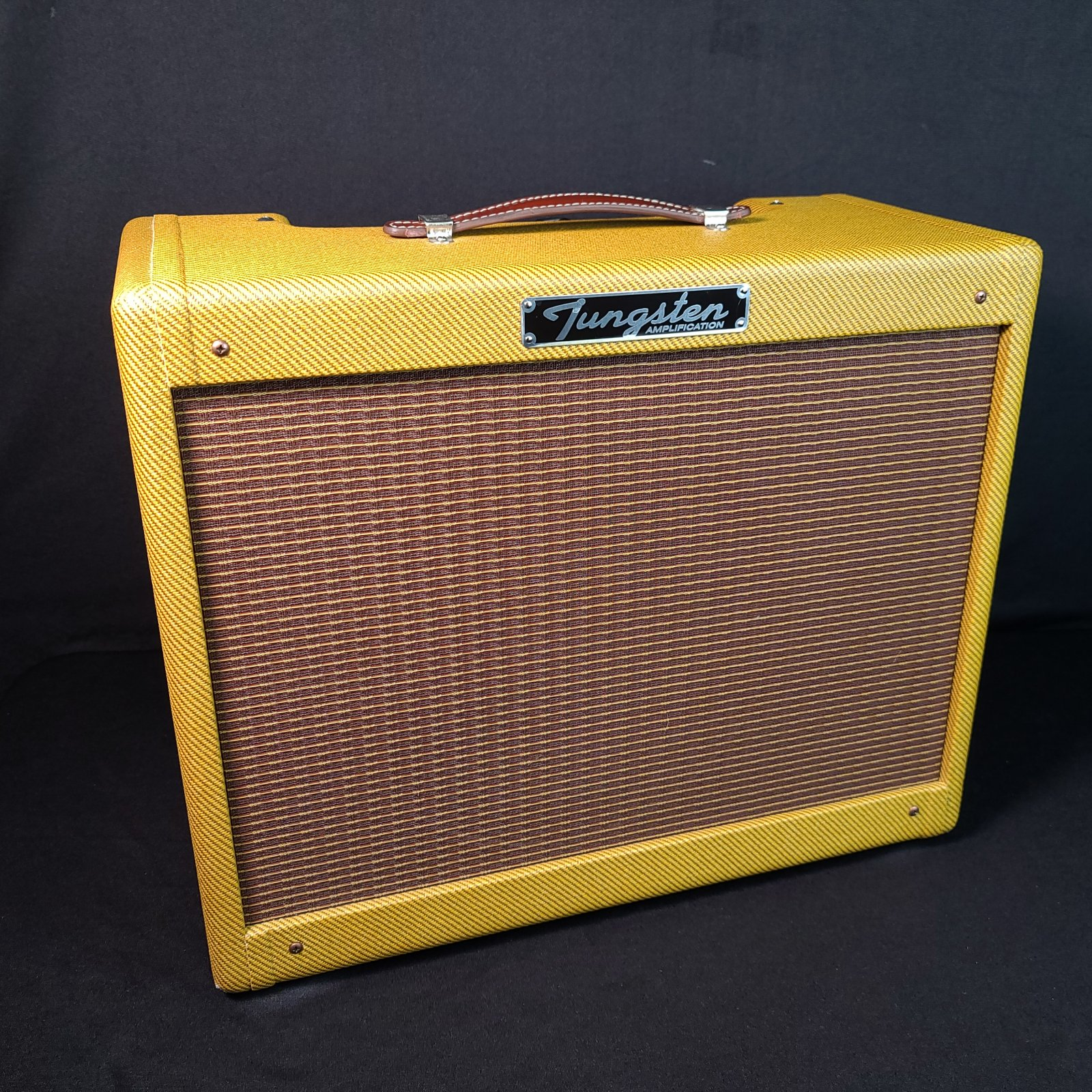 USED Tungsten Oxnard 25 Tweed Electric Guitar Amplifier w/ Cover Serial Number #001