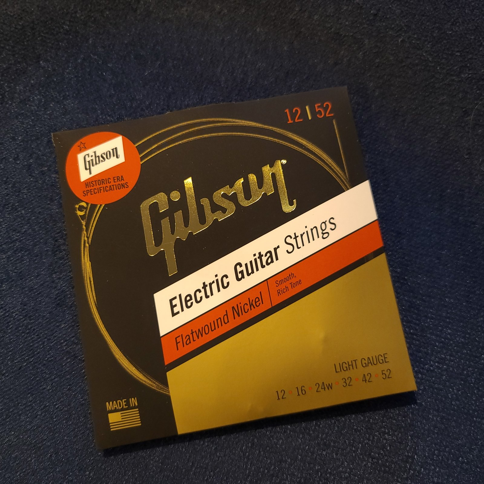 Gibson Flatwound Electric Strings 12-52 Historic Era Specifications