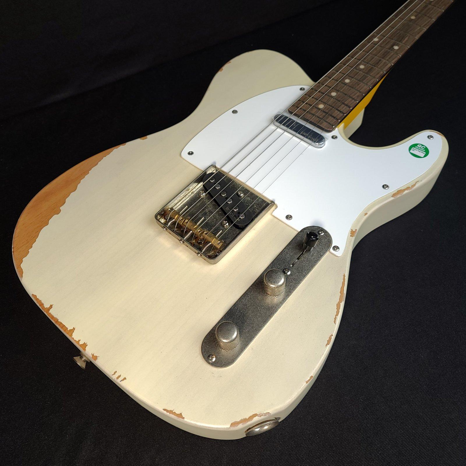 Vintage V62MRAB Distressed Reissue Ash Blonde Electric Guitar